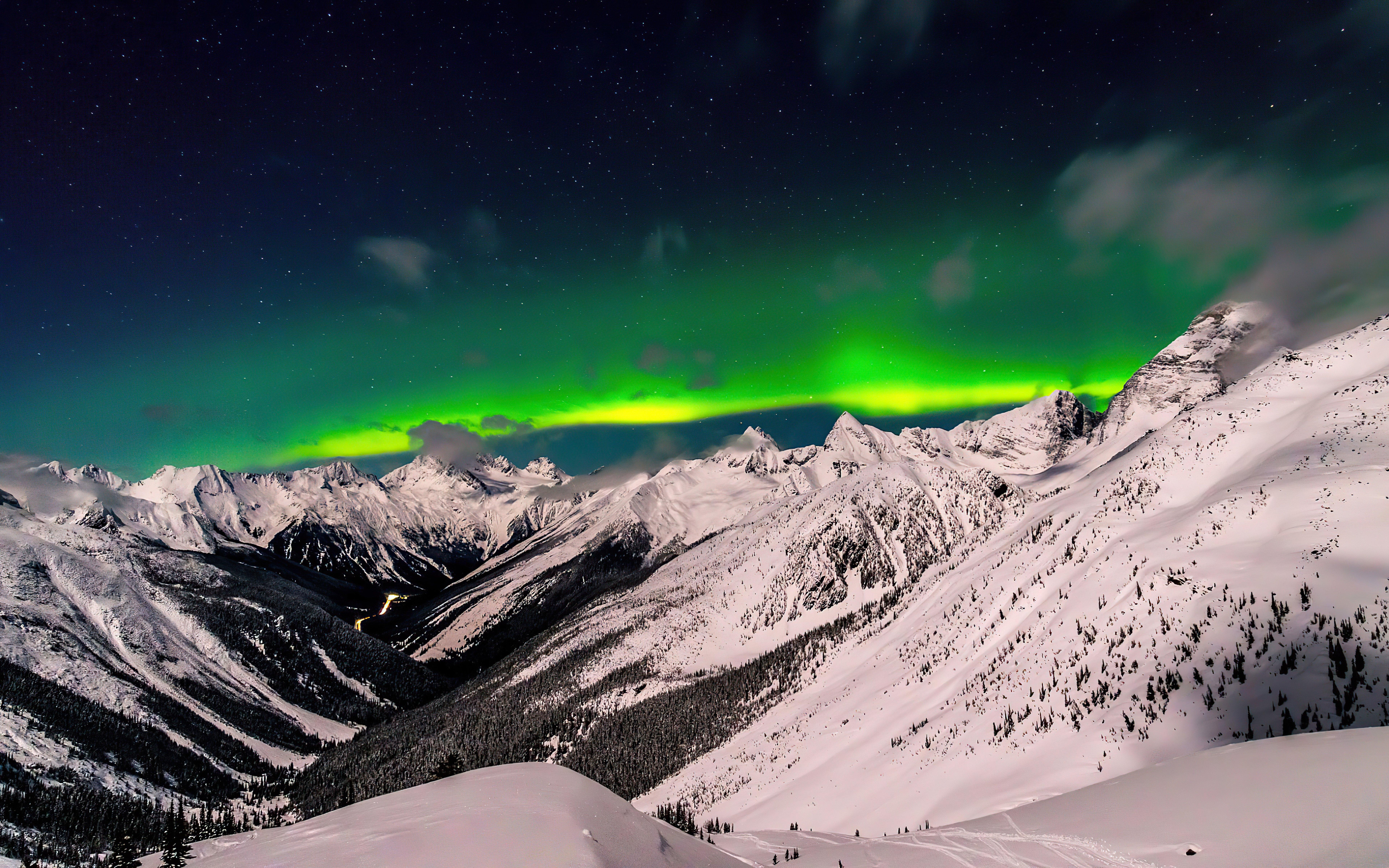 Fondos de pantalla Aurora Polar en Columbia Británica