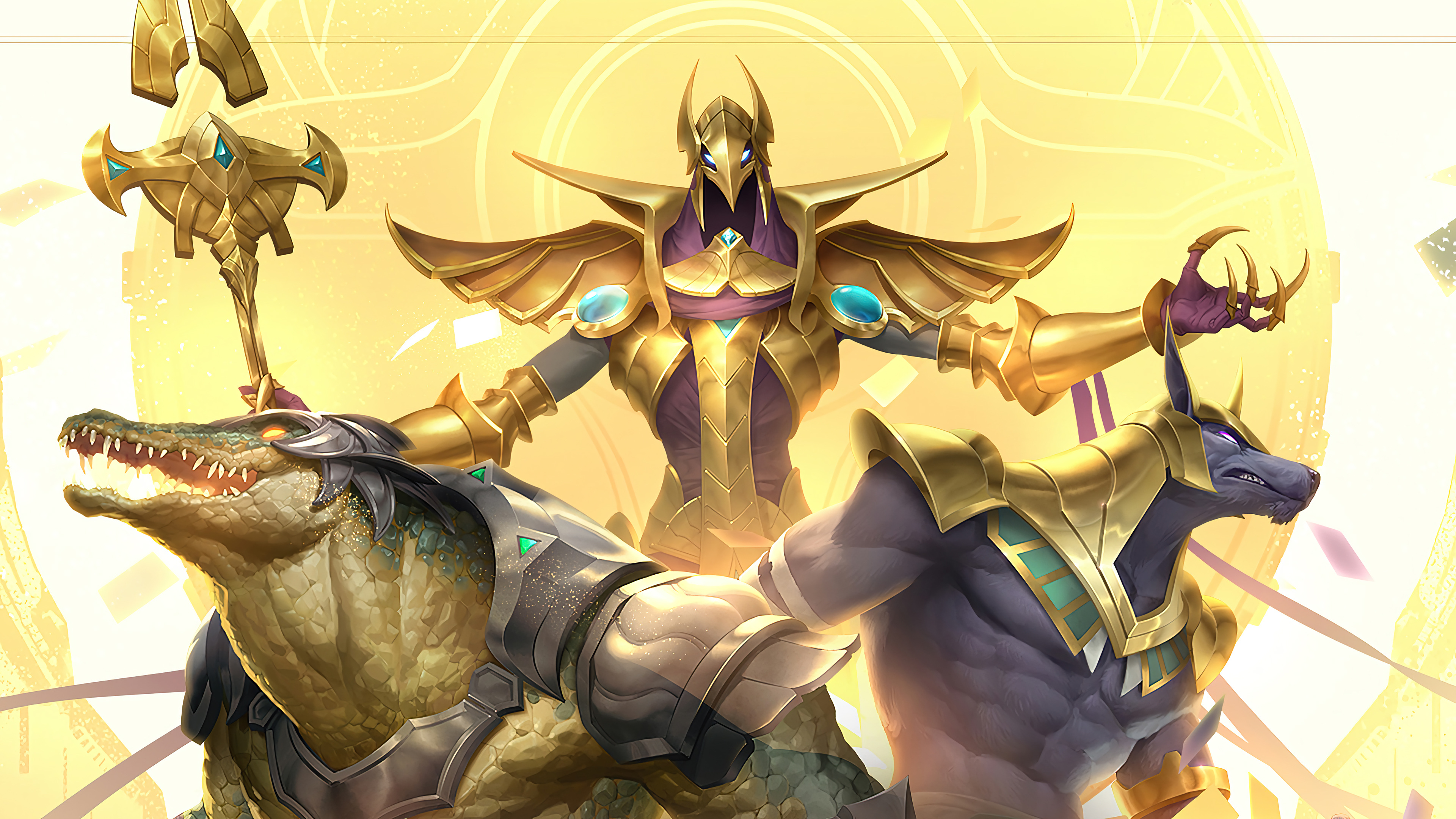 Fondos de pantalla Azir Renekton Nasus Legends of Runeterra