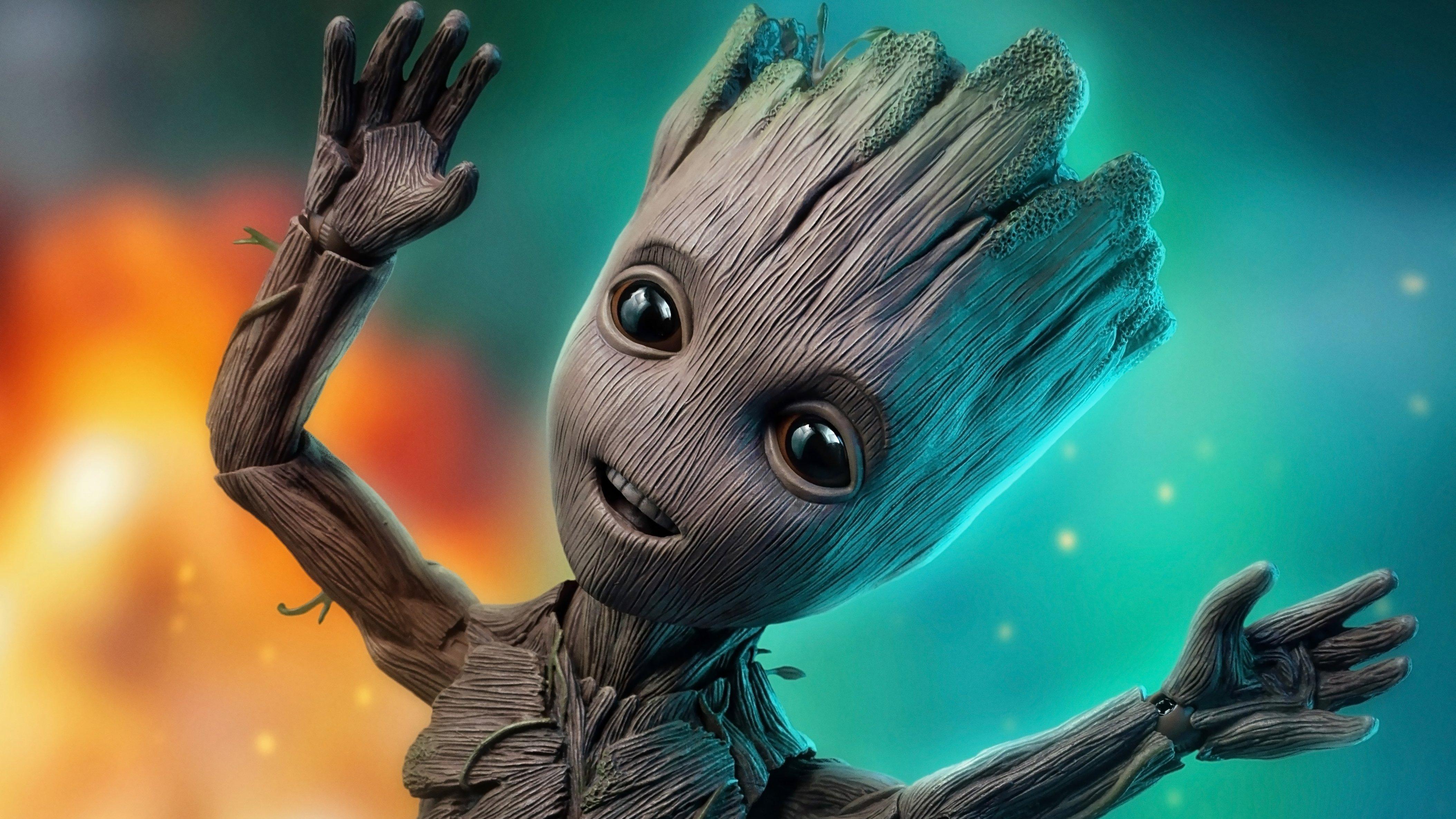 Fondos de pantalla Baby Groot de Guardianes de la Galaxia