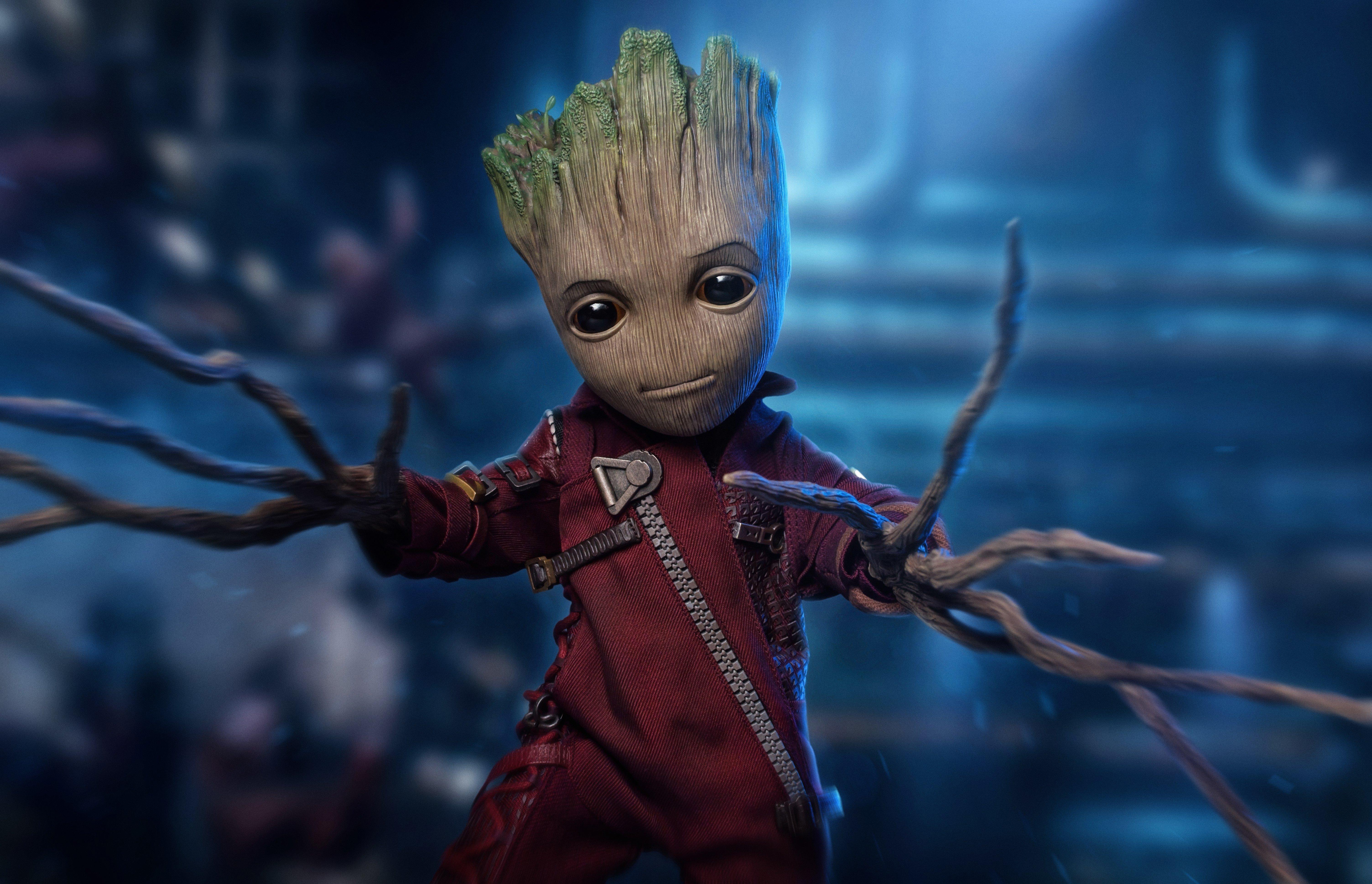 Fondos de pantalla Baby Groot Guardianes de la Galaxia