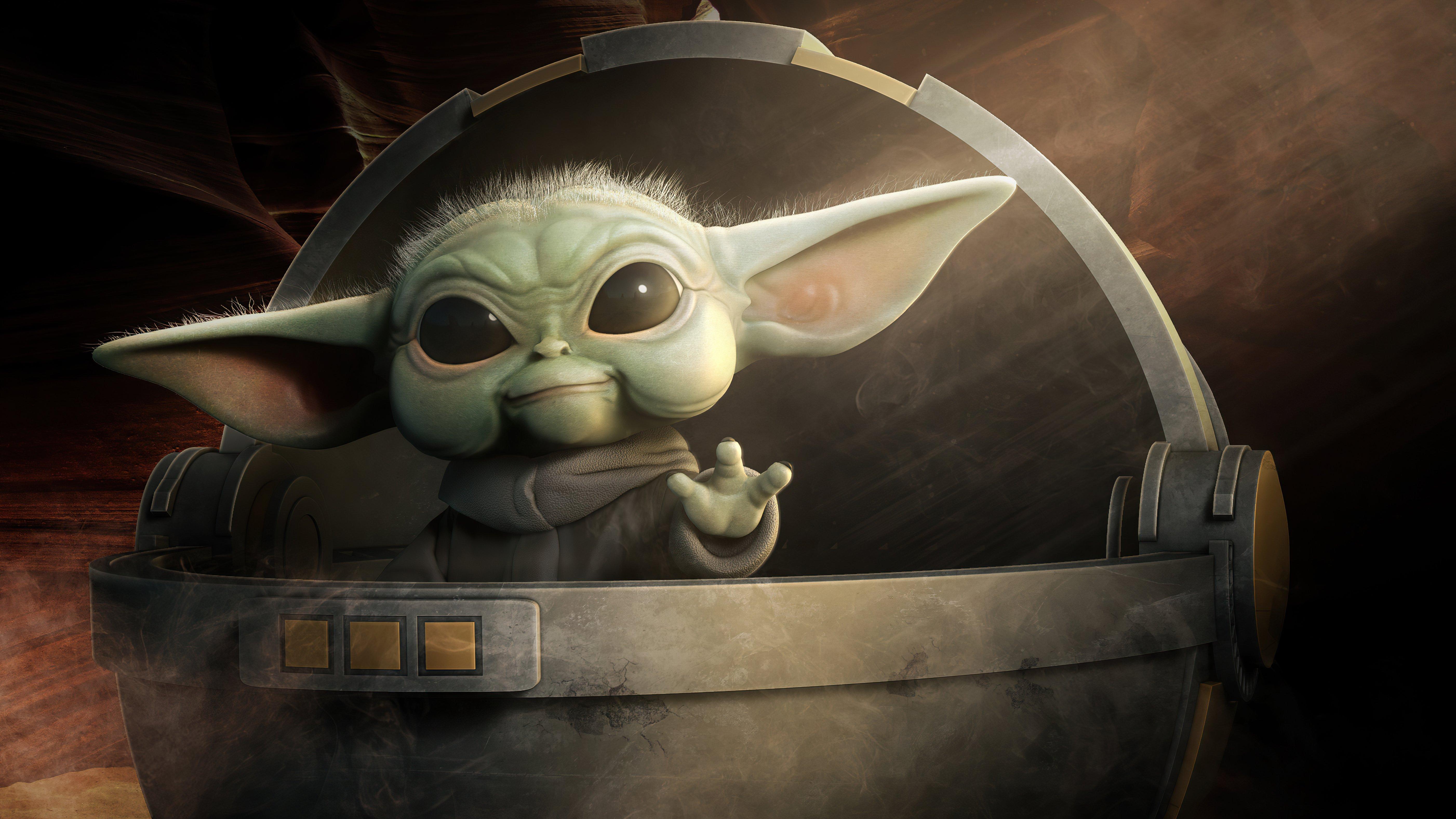 Fondos de pantalla Baby Yoda