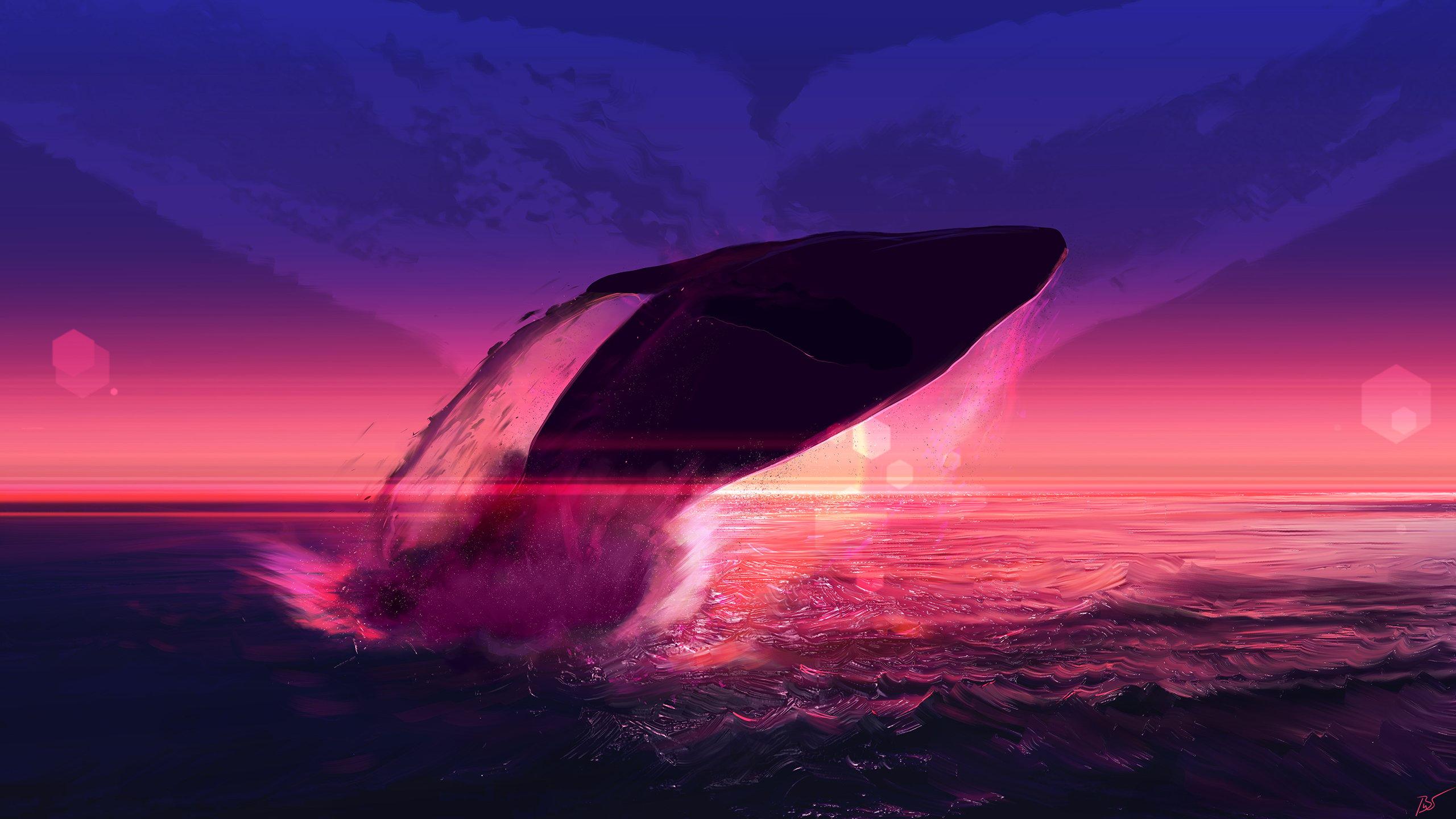 Fondos de pantalla Ballena saltando en el océano