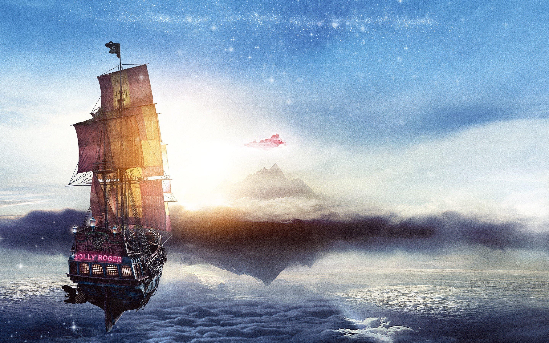 Fondos de pantalla Barco pirata Jolly Roger de Pan