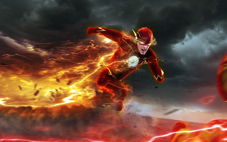 Fondo de pantalla de Barry Allen como Flash Imágenes
