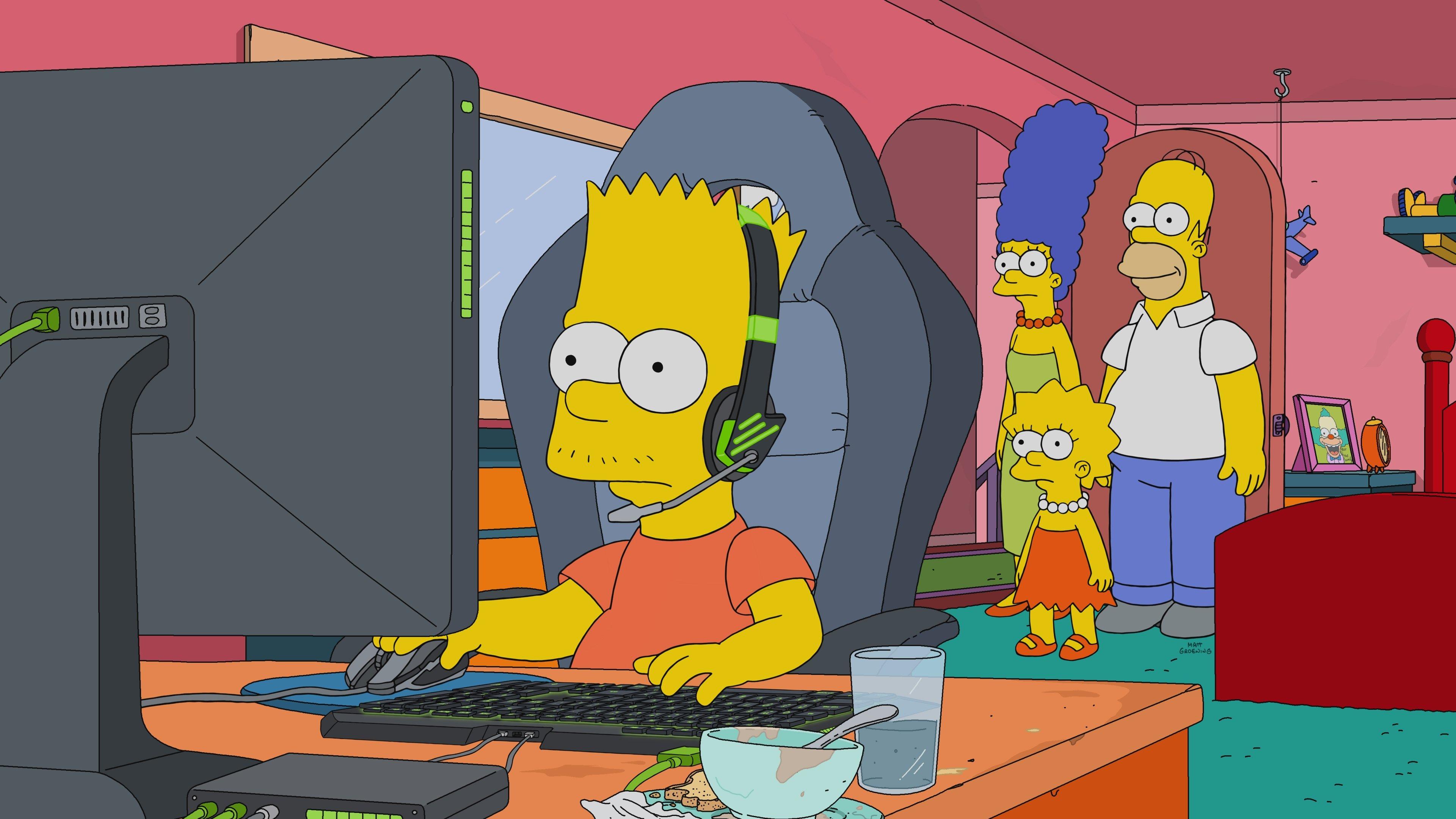 Fondos de pantalla Bart Simpson eSports Gaming