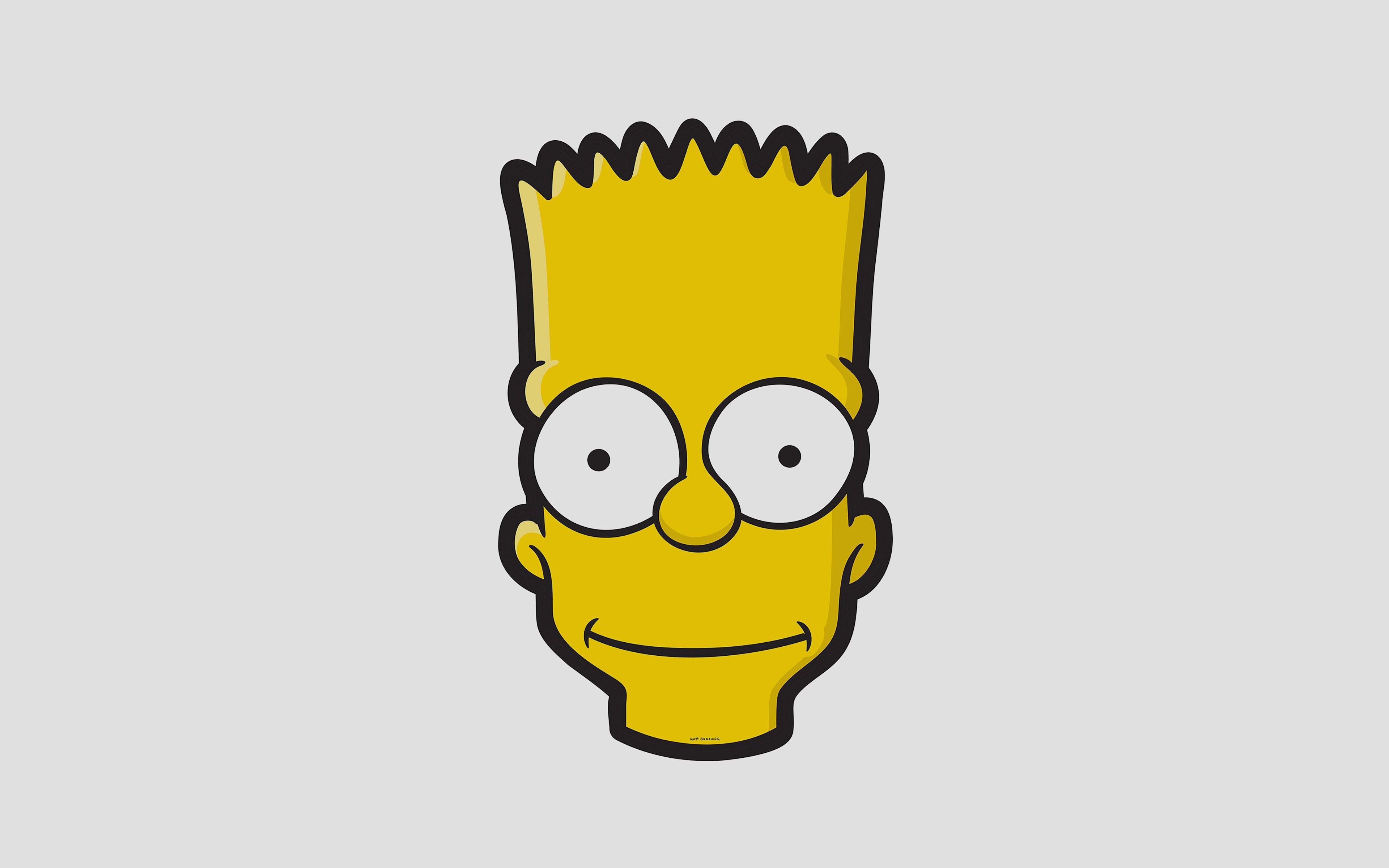 Fondos de pantalla Bart Simpson Minimalista