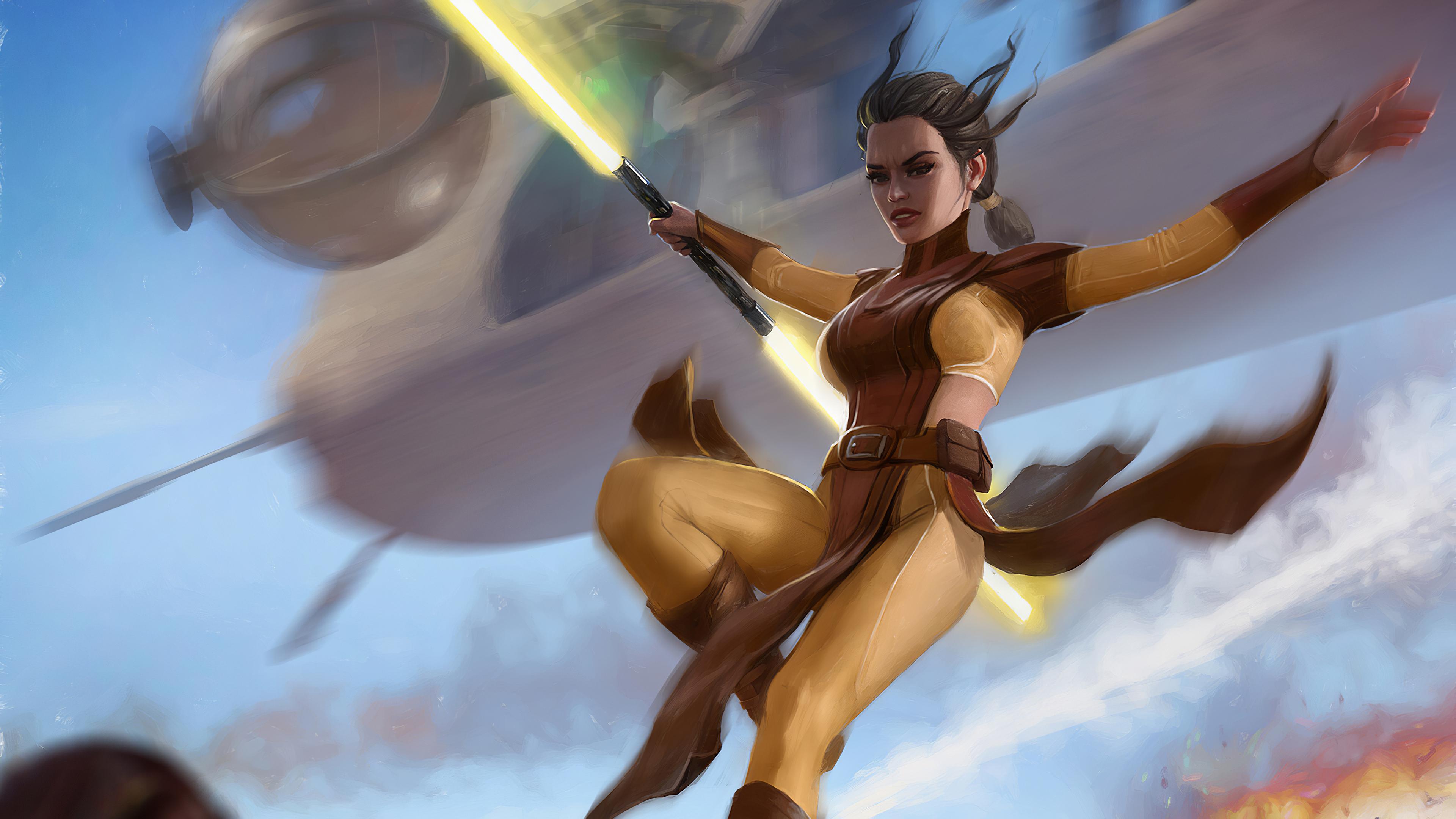 Bastila Shan From Star Wars Knights Of The Old Republic Wallpaper