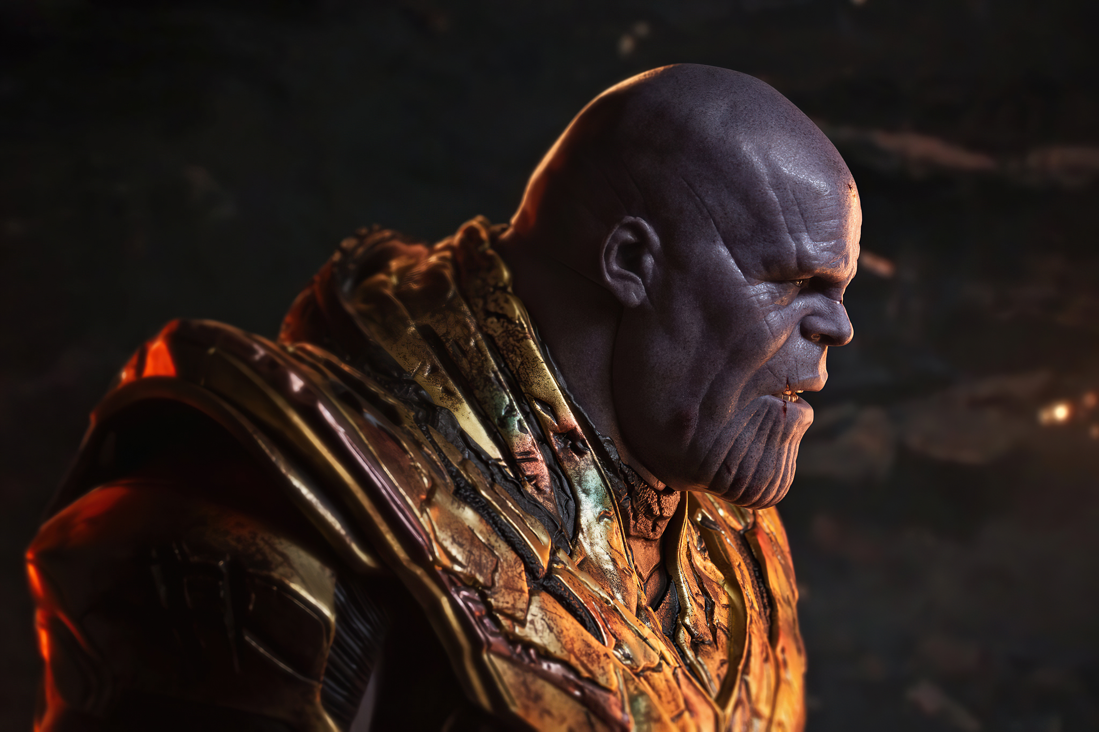 Wallpaper Battle Damanged Thanos