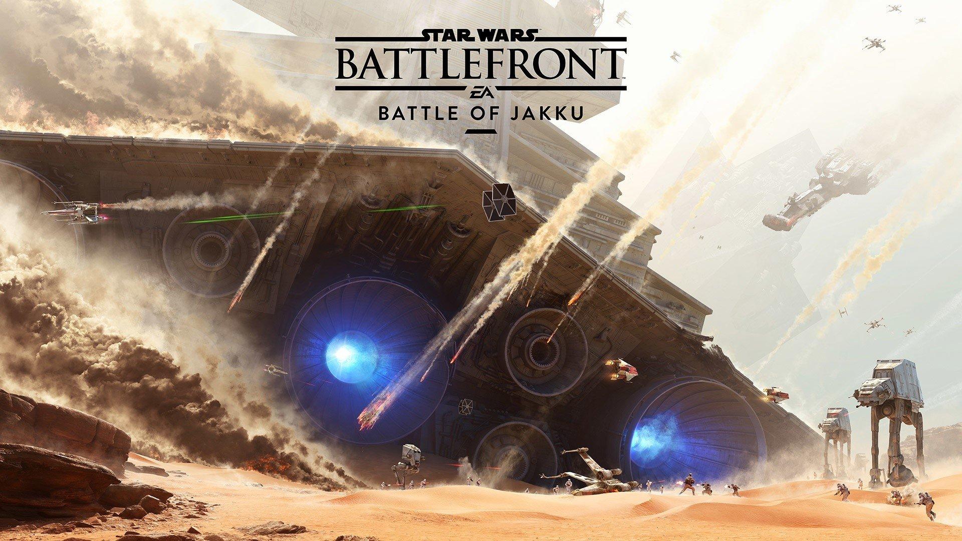 Wallpaper Battle of Jakku in Star Wars Battlefront