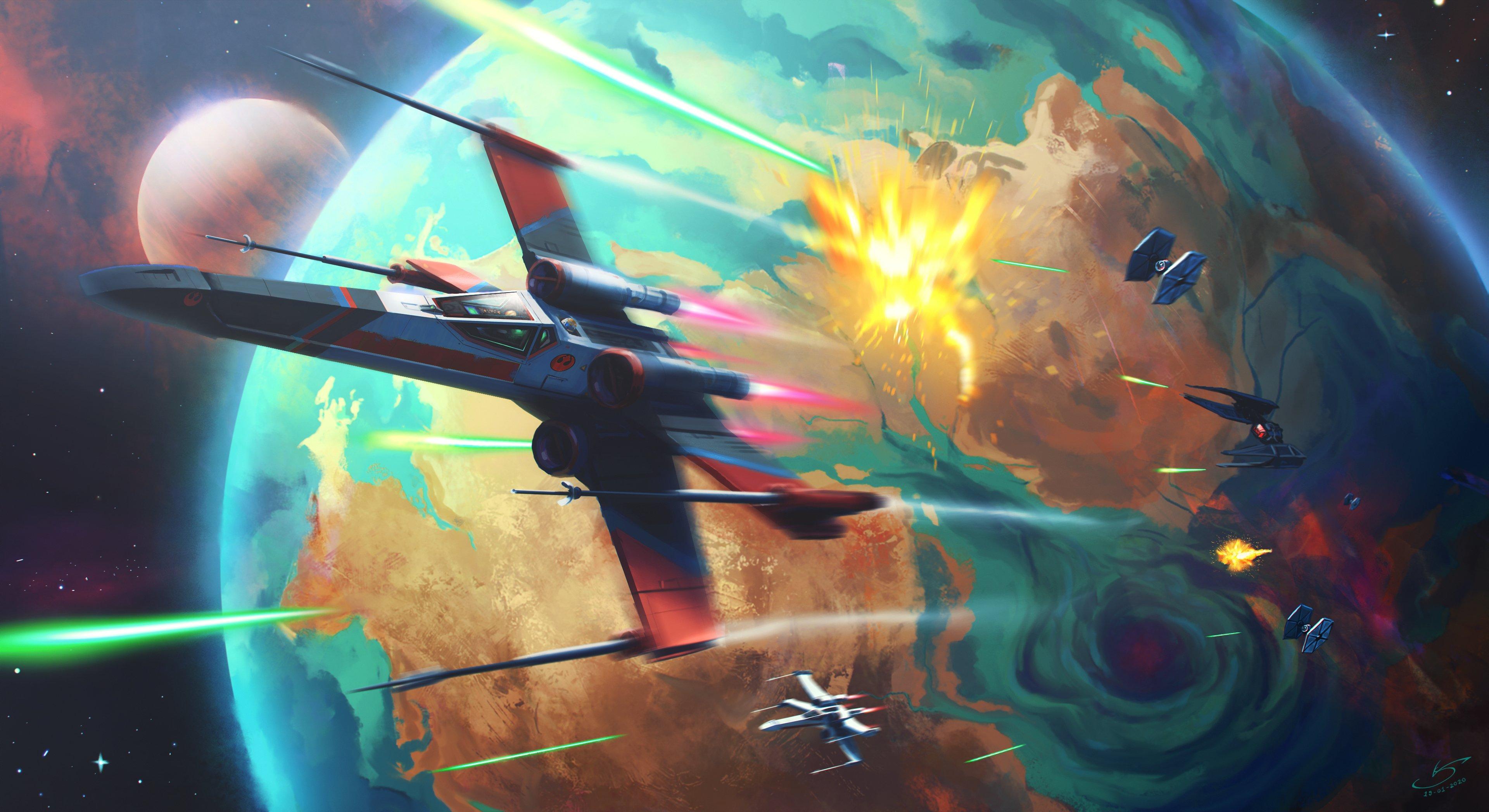 Fondos de pantalla Batalla en el espacio