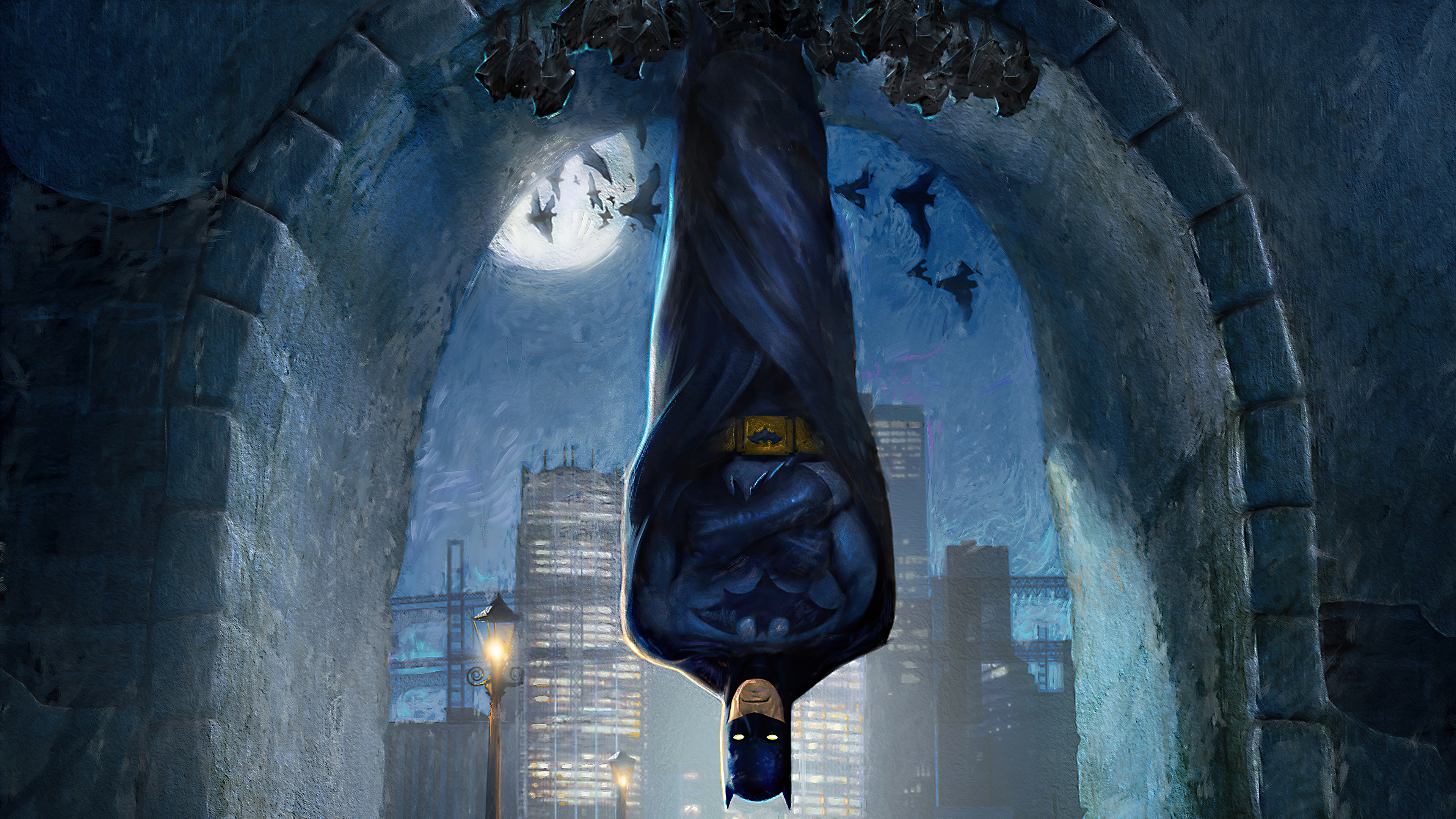 Fondos de pantalla Batman colgado del techo
