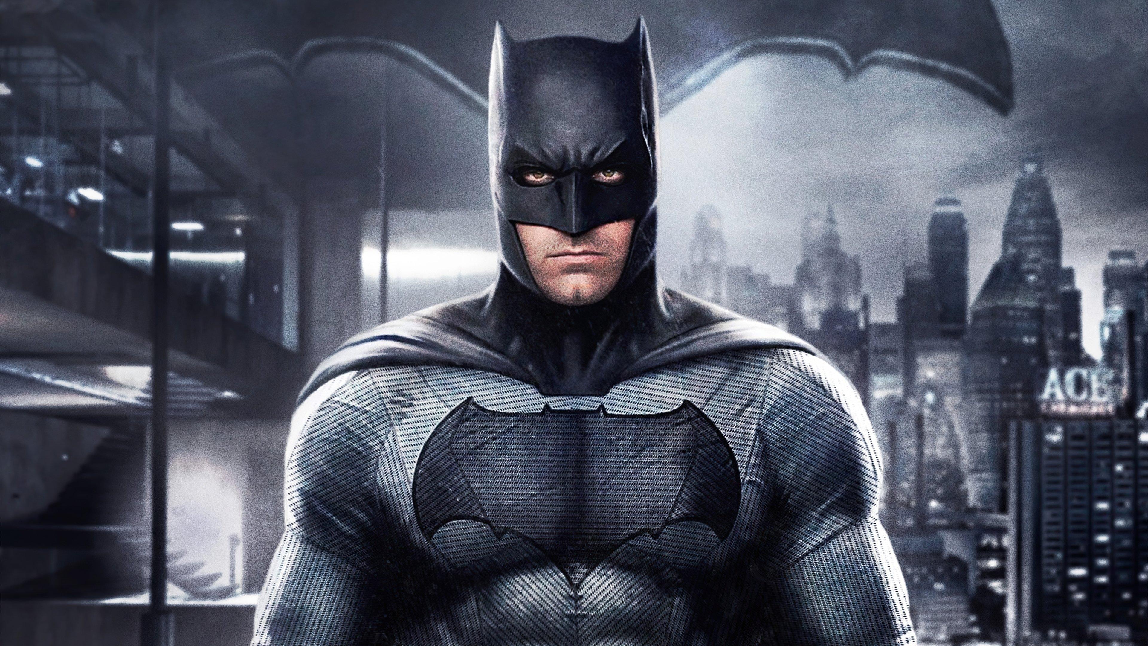 Fondos de pantalla Batman con ciudad de fondo