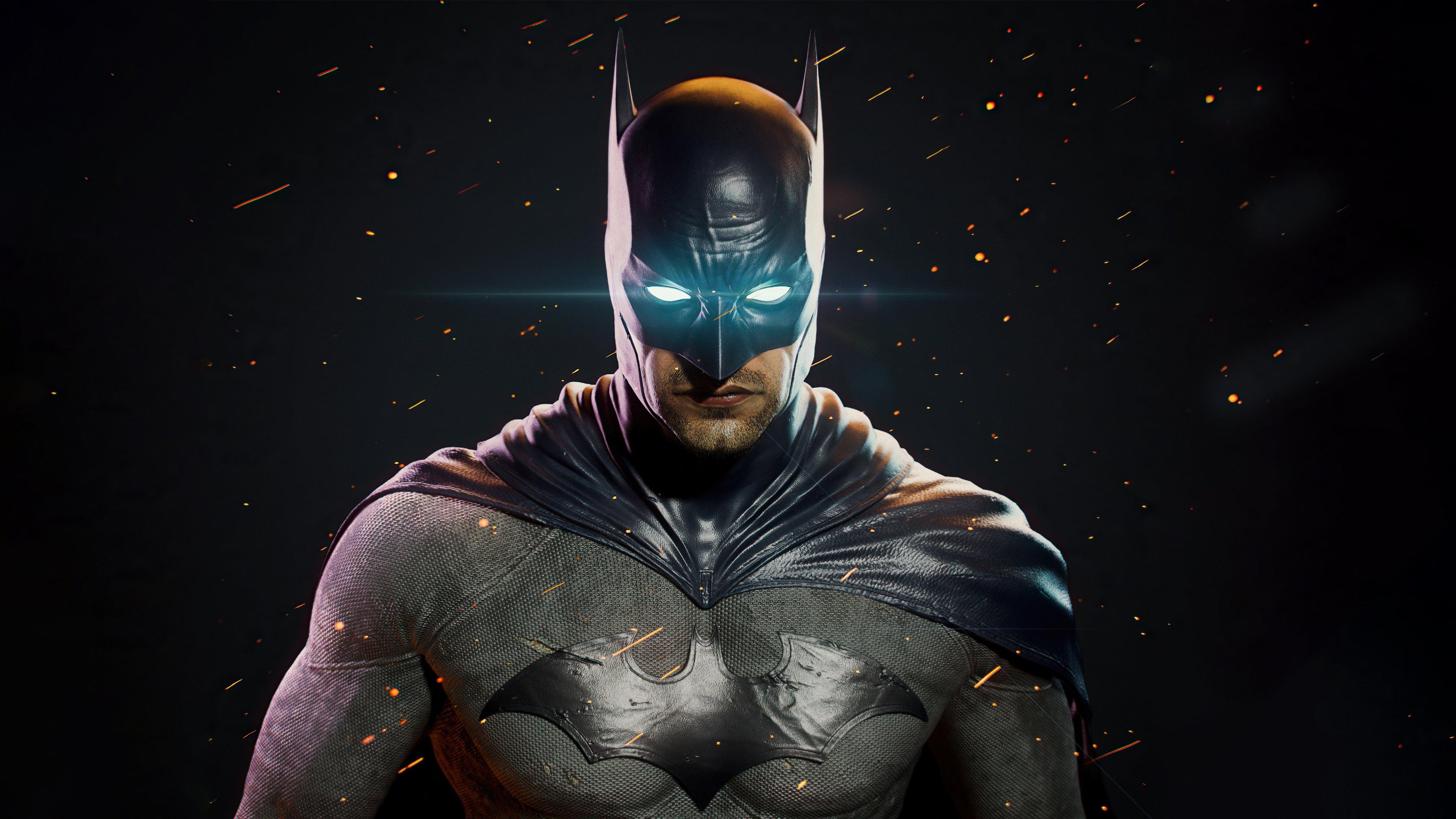 Wallpaper Batman glowing eyes