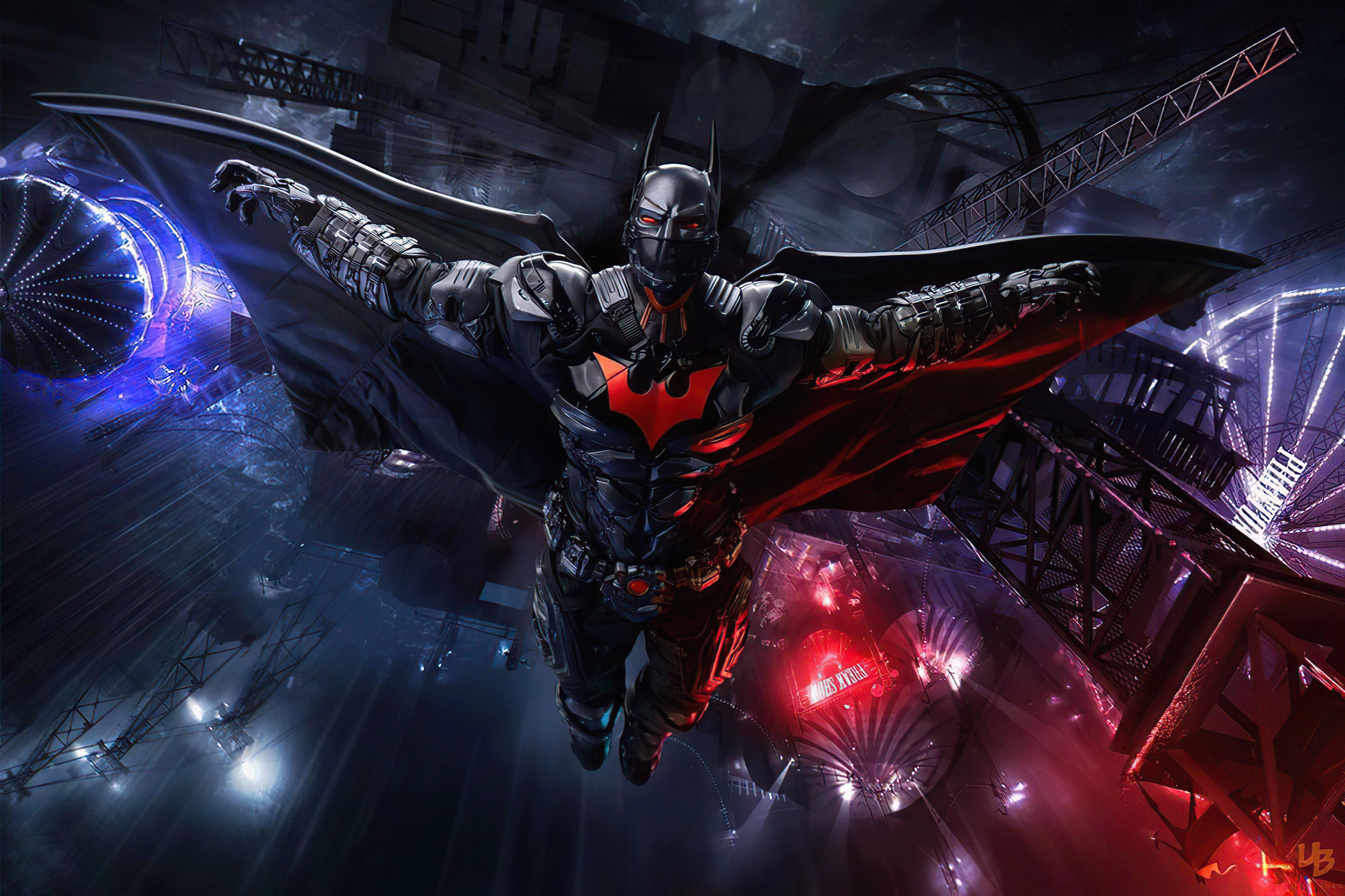 Wallpaper Hight Tech Batman Suit open wings