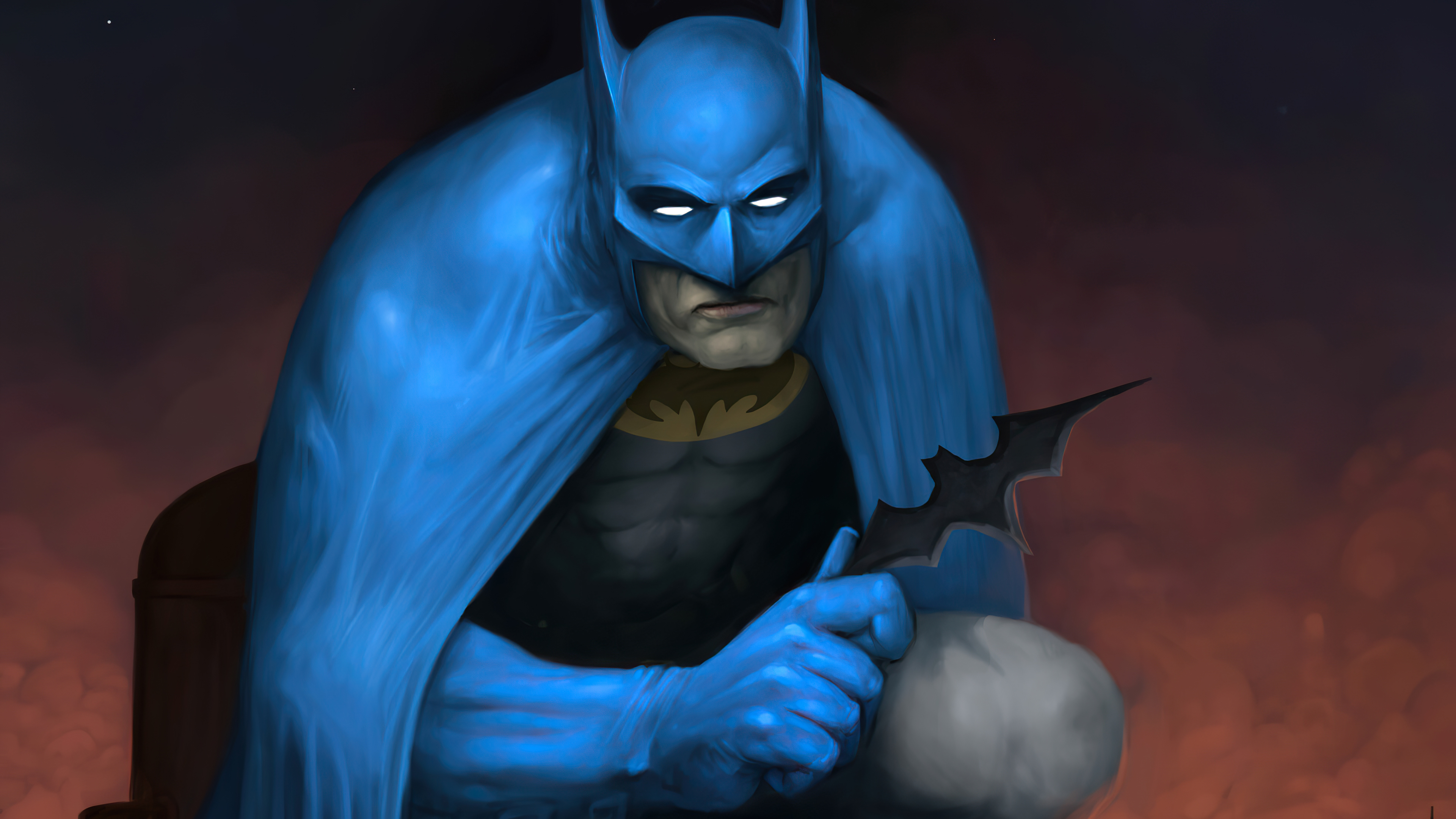 Wallpaper Batman with old suit