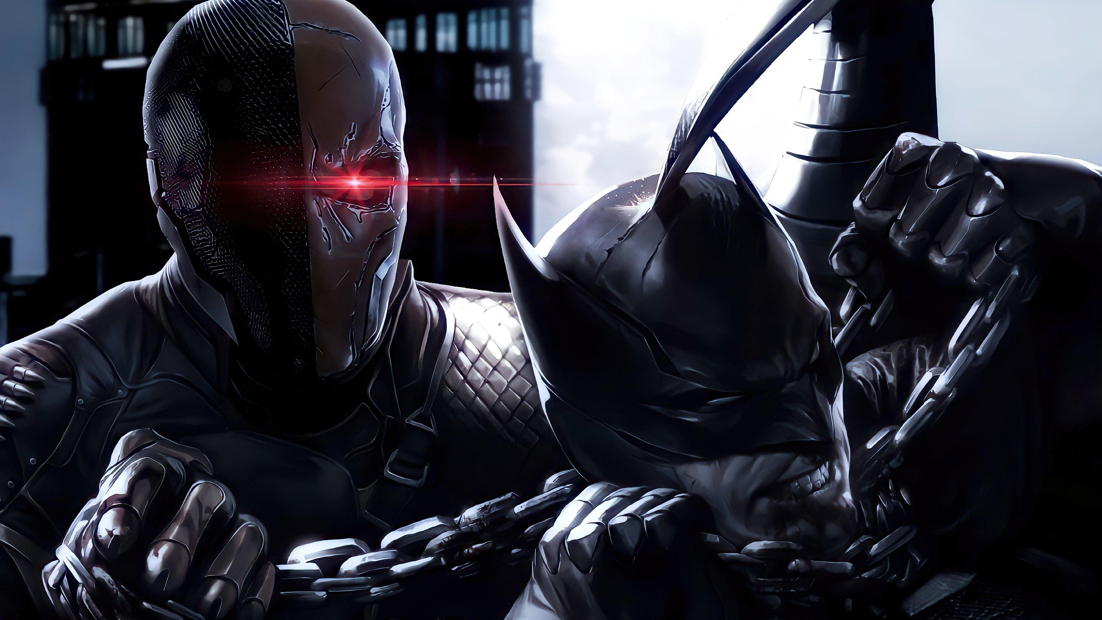 Wallpaper Batman vs Deathstroke