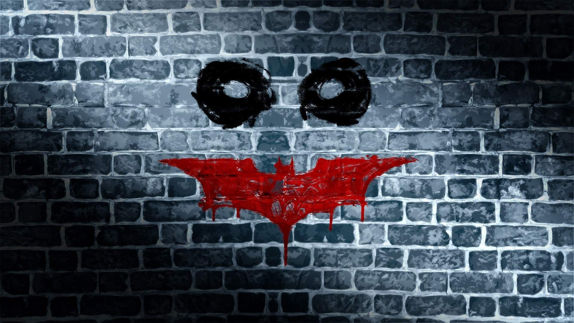 Wallpaper Batman Dark Knight Joker Muro