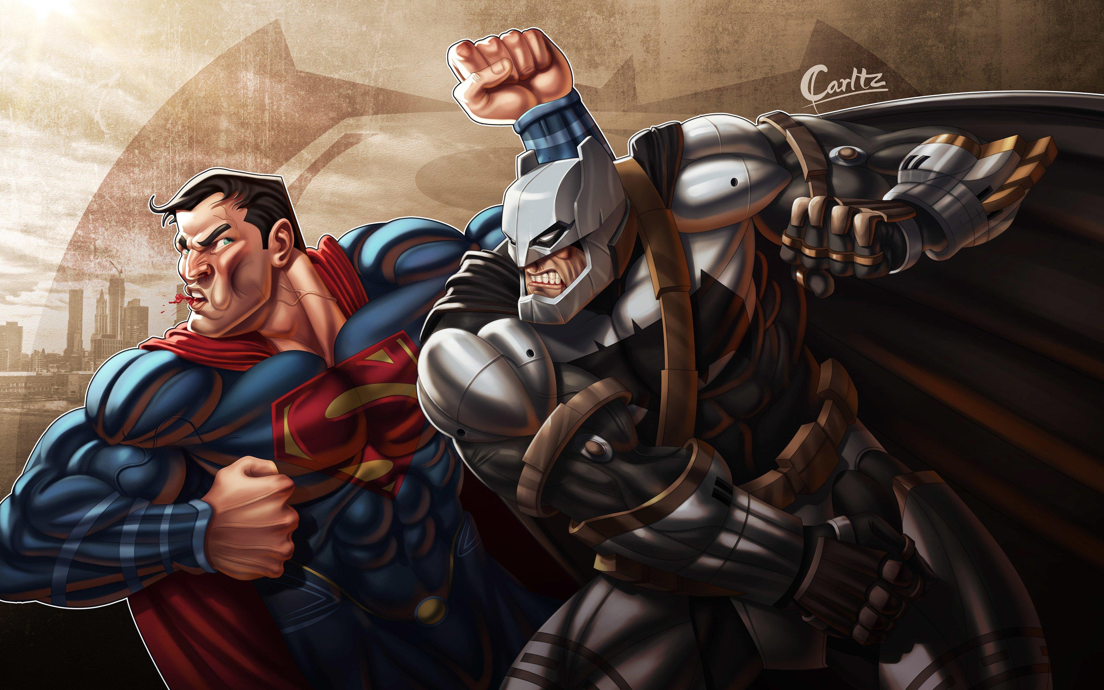 Fondos de pantalla Batman derrotando a Superman