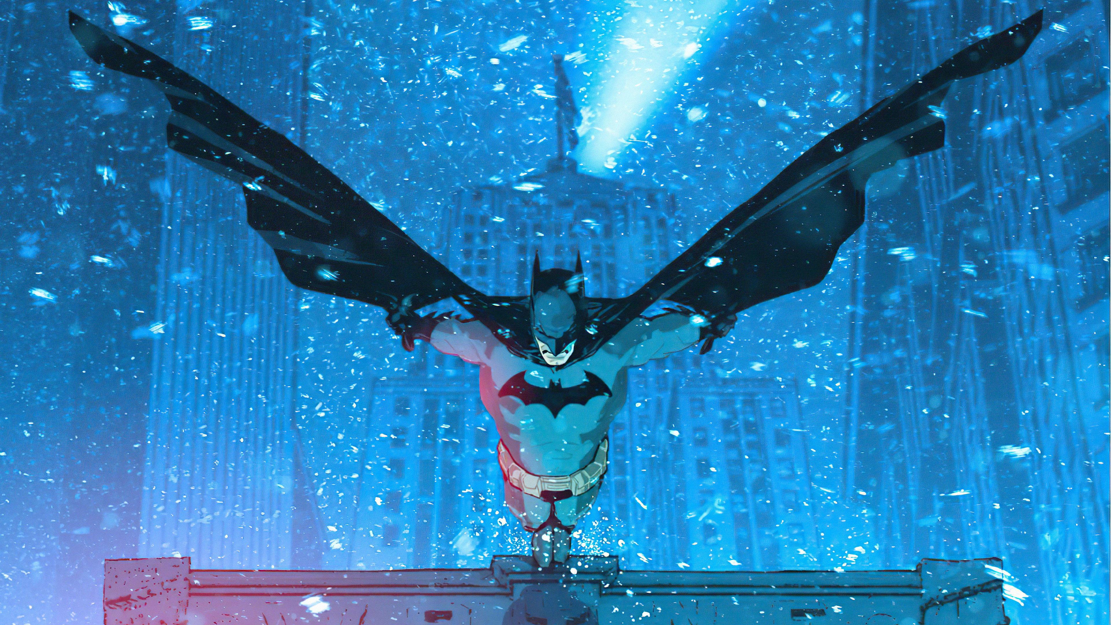 Wallpaper Batman in the city