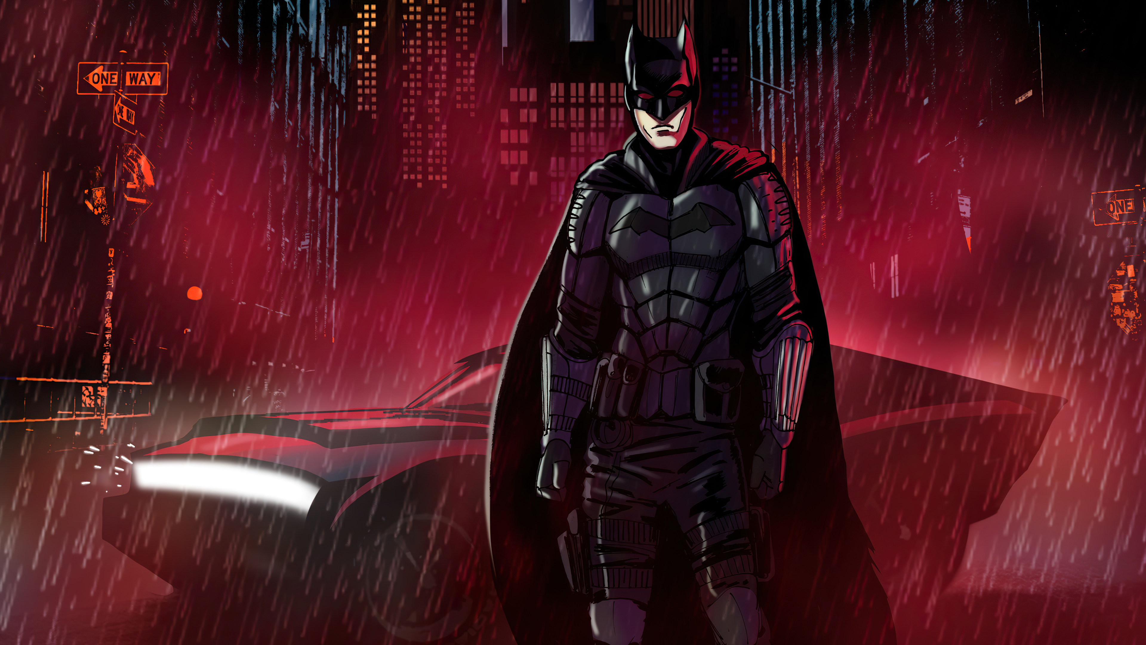 Wallpaper Batman Night Cyberpunk