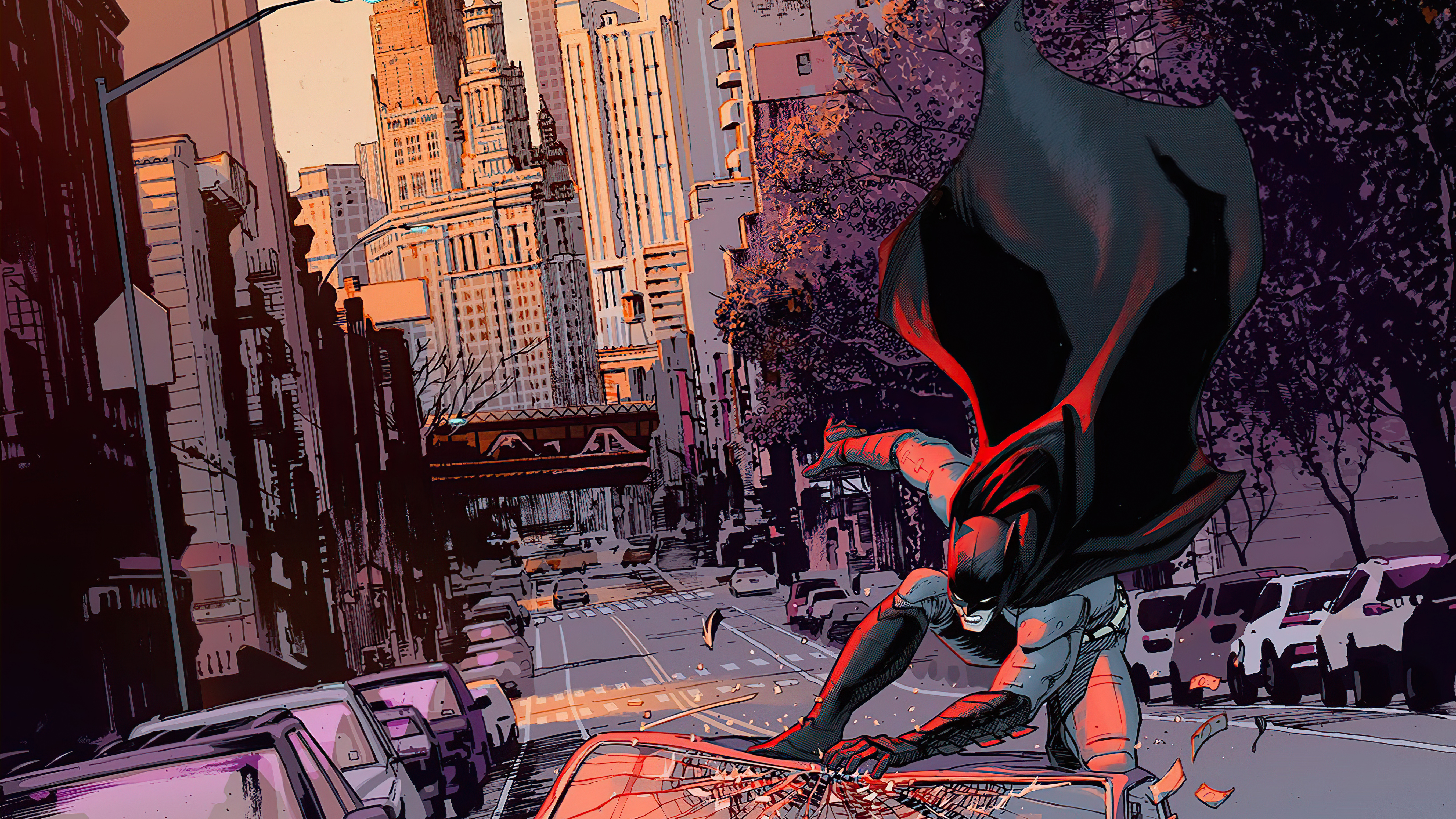 Wallpaper Batman in New York