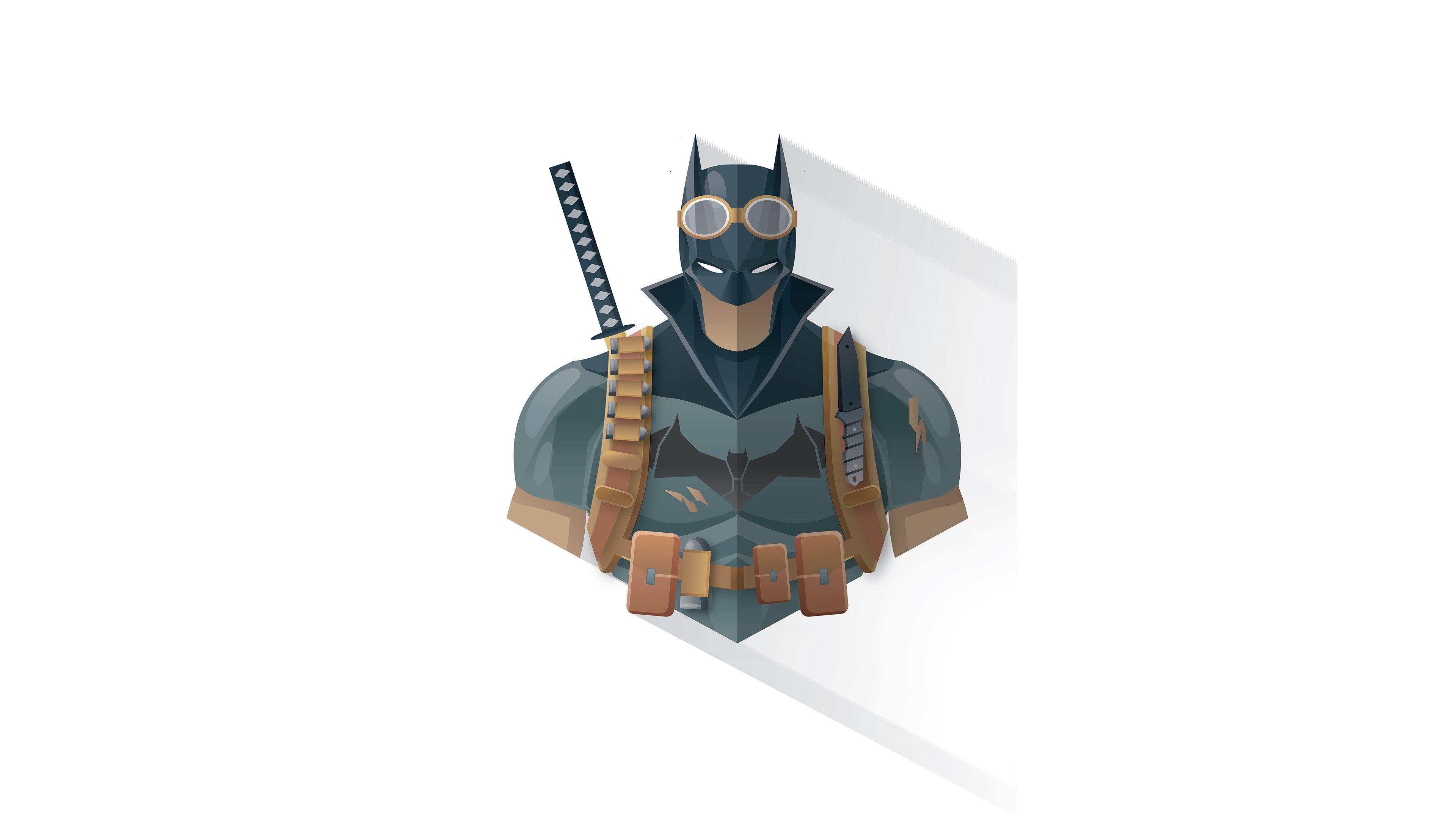 Wallpaper Batman Minimalist Illustration