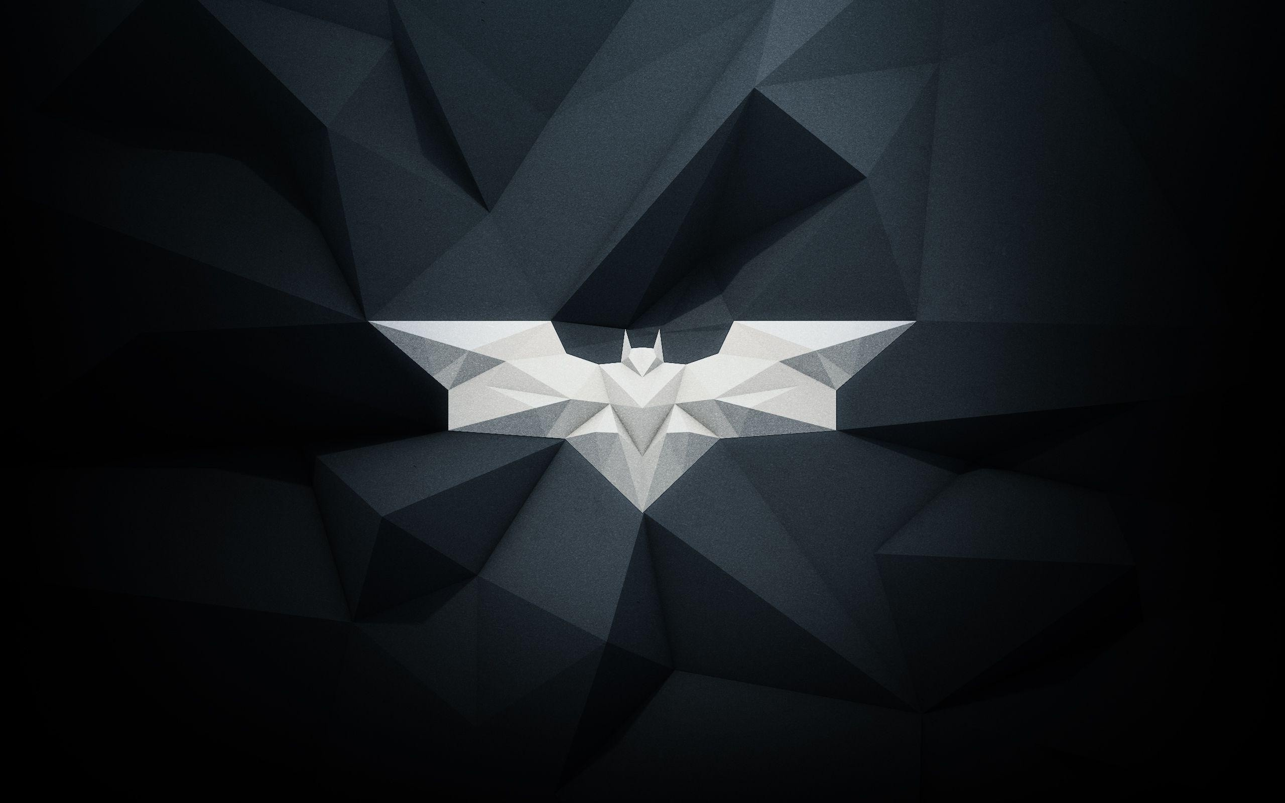 Wallpaper Batman Logo Poligonal