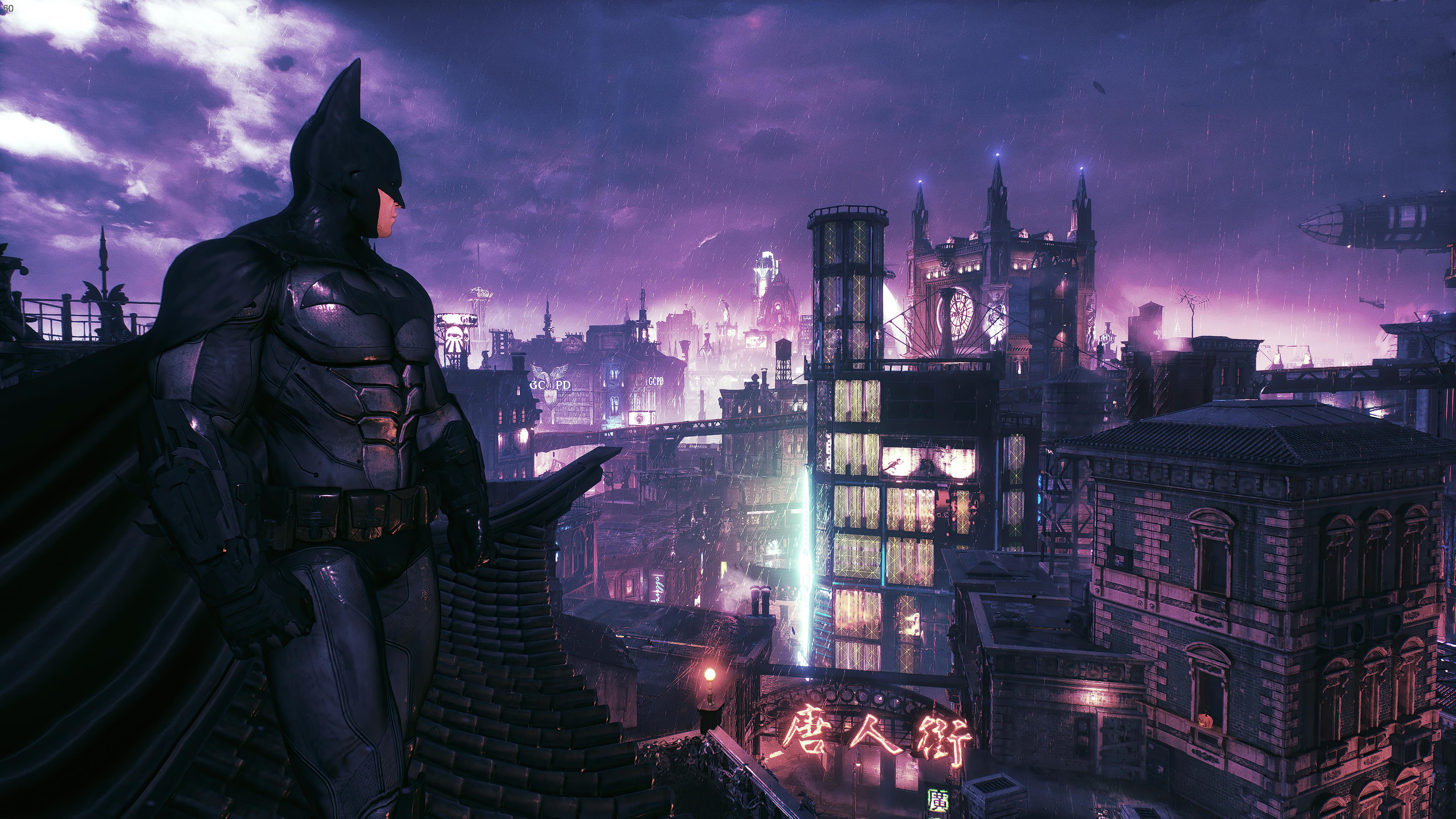 Fondos de pantalla Batman mirando la ciudad