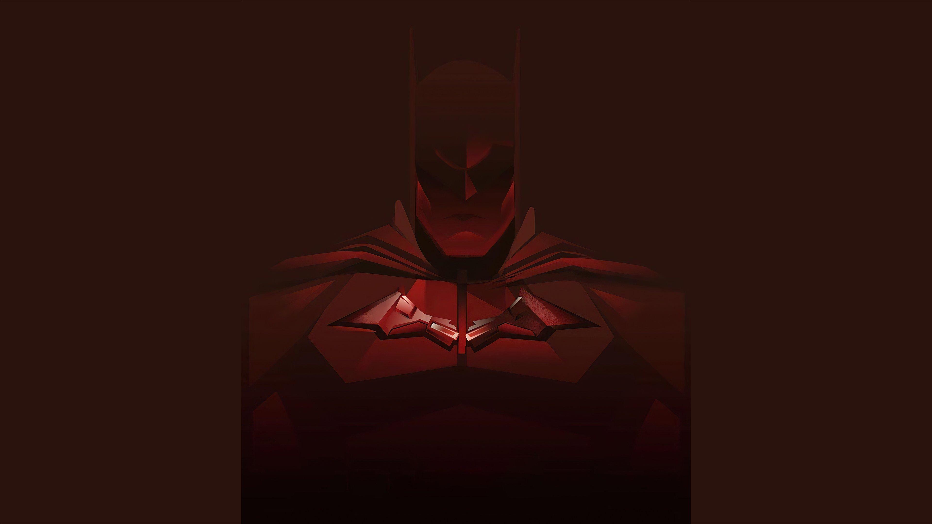 Wallpaper Red Batman Minimal