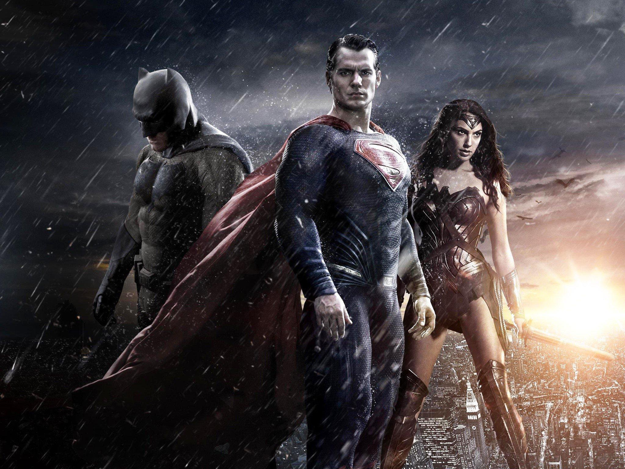 Fondos de pantalla Batman, Superman y la mujer maravilla