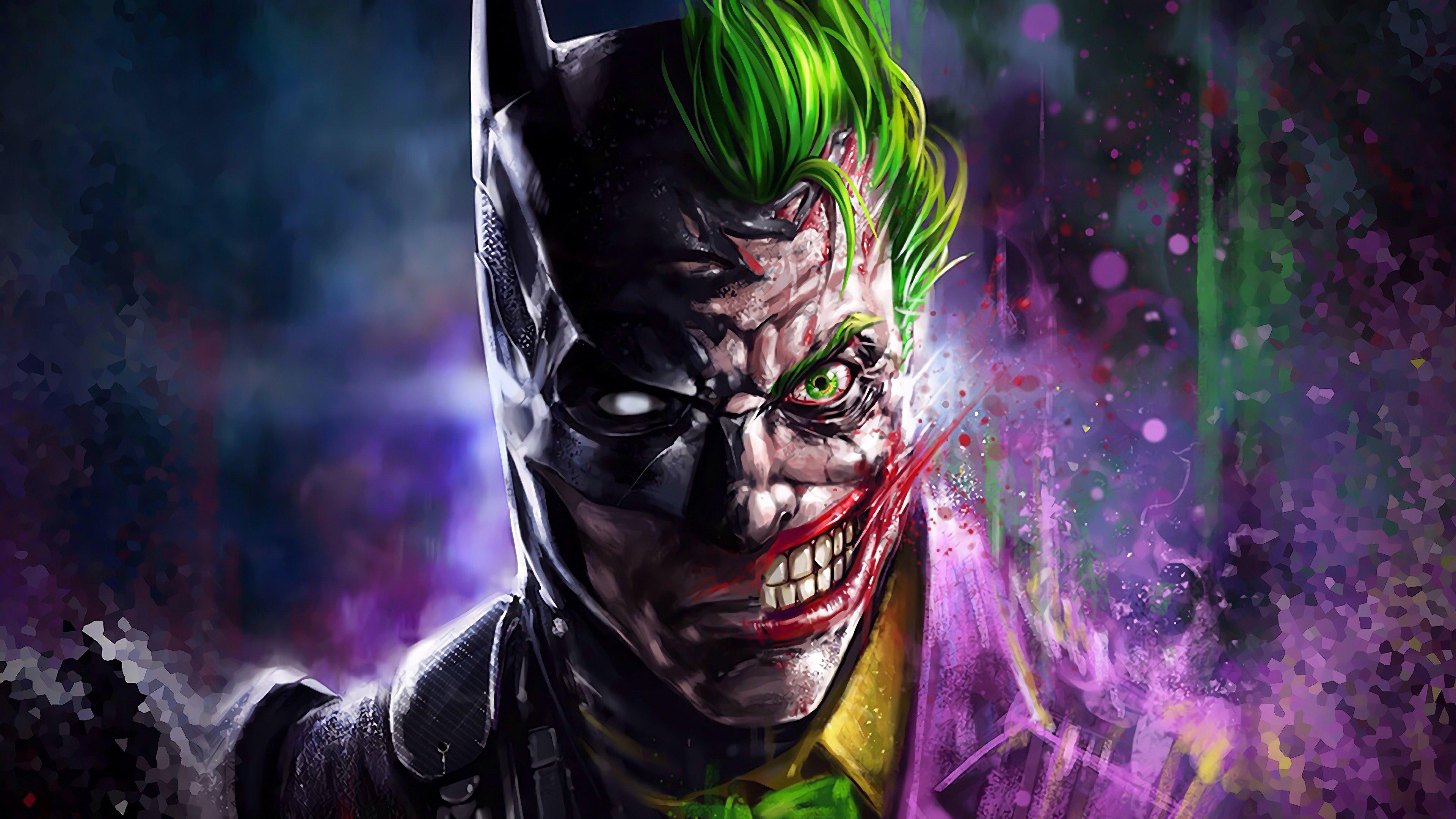 Fondos de pantalla Batman y Guasón