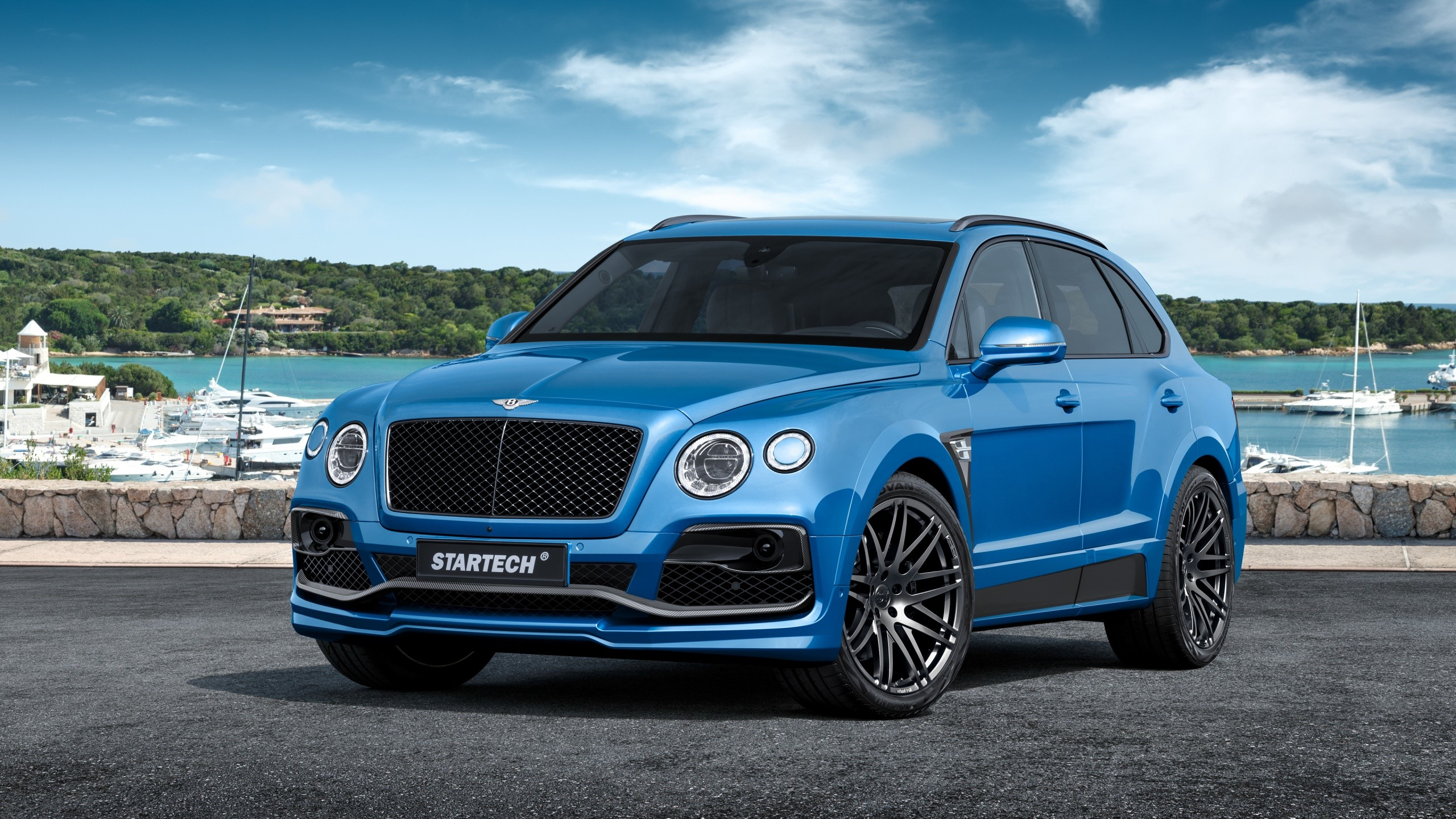 Wallpaper Bentayga  azul de Bentley Images