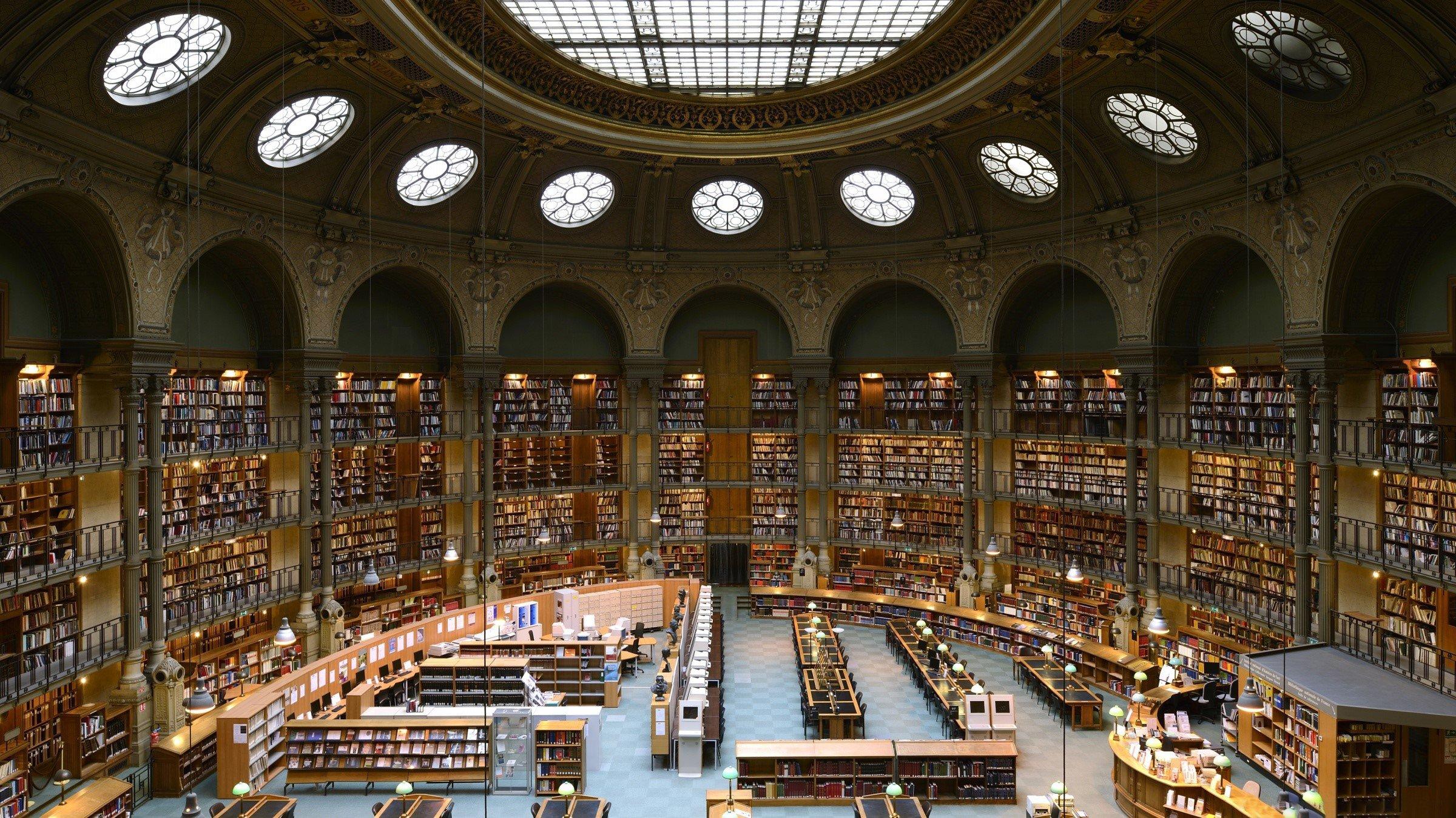 Fondo de pantalla de Biblioteca nacional de Francia Imágenes