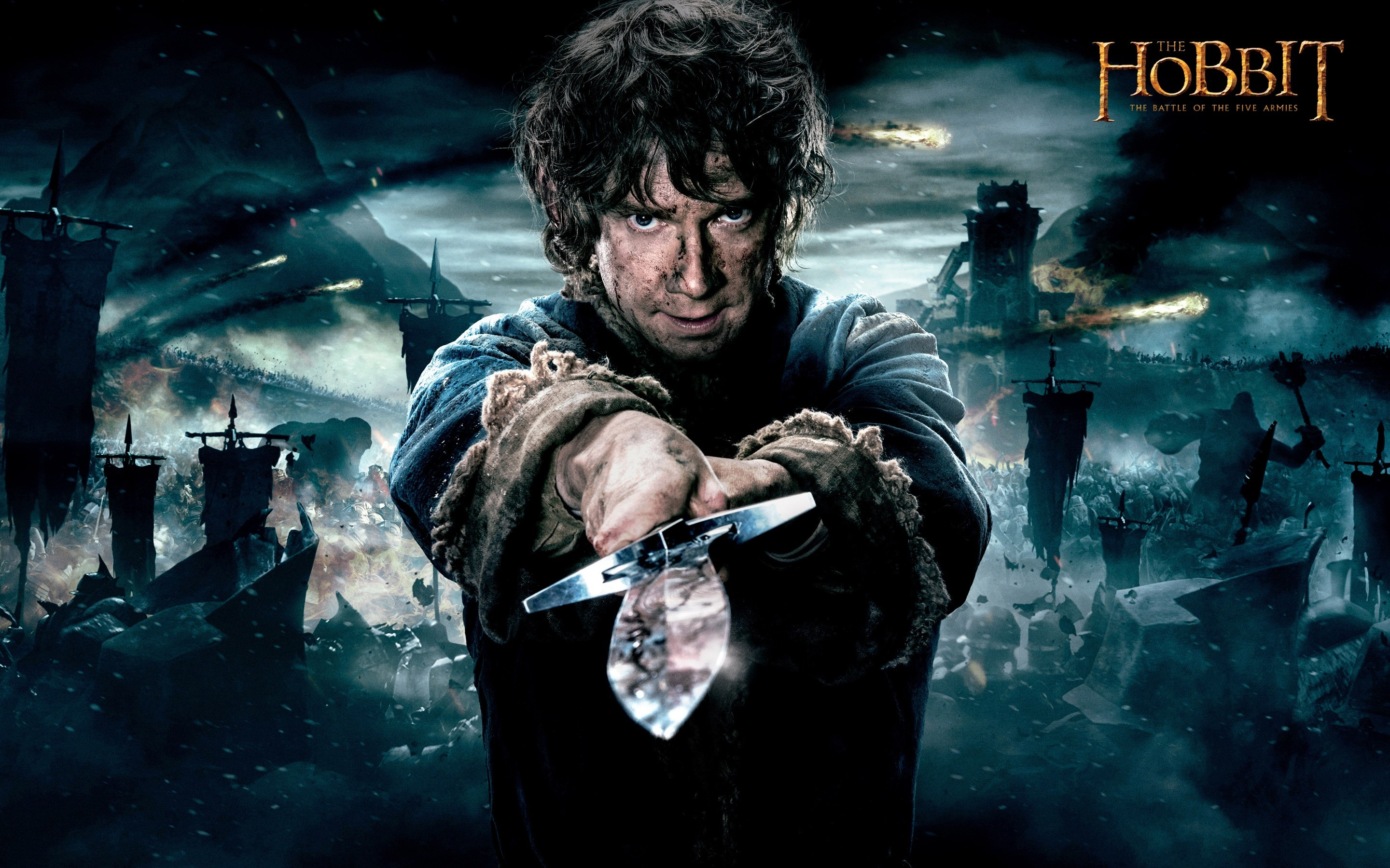 Wallpaper Bilbo with a sword