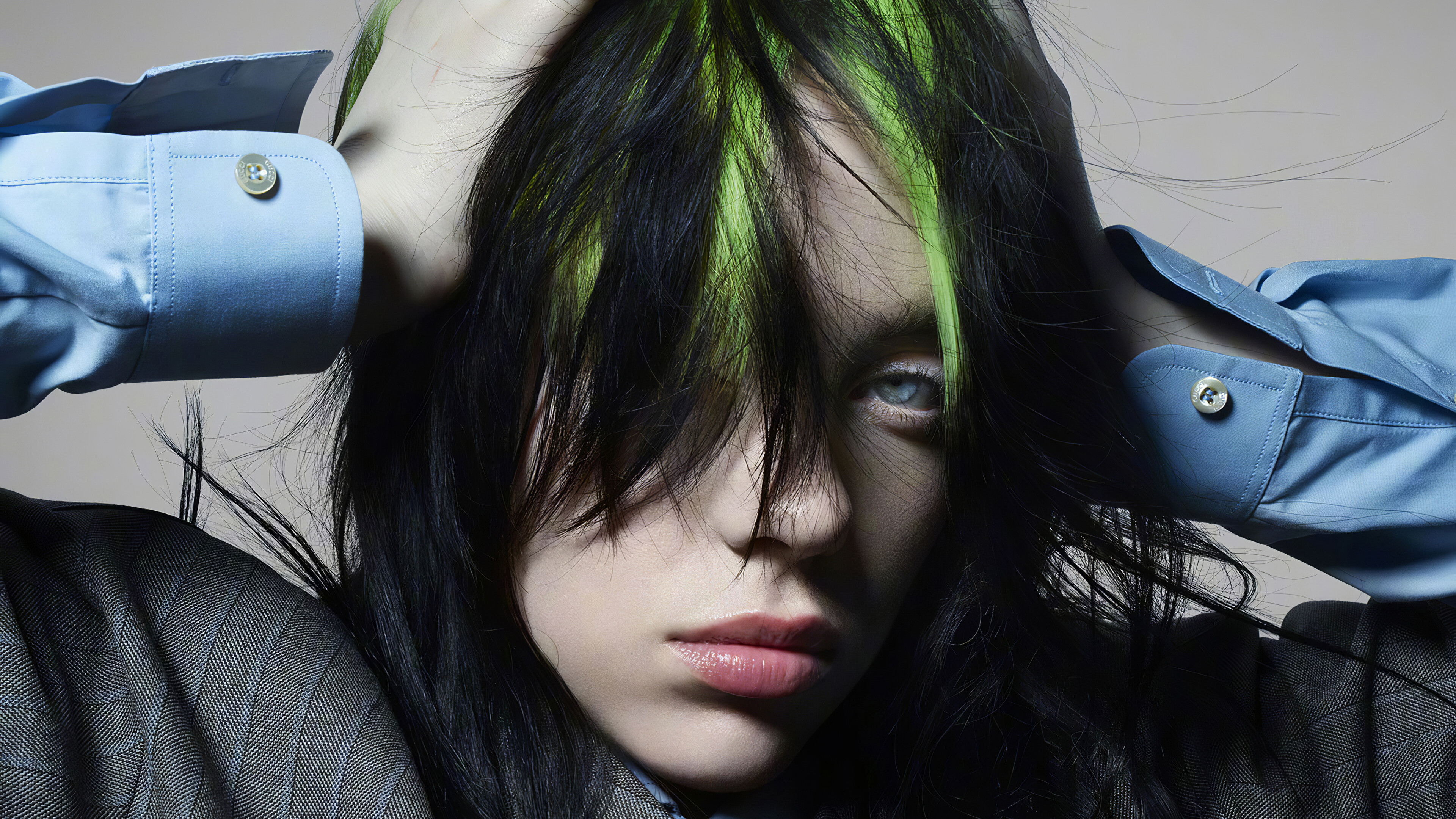 Wallpaper Billie Eilish hair undone