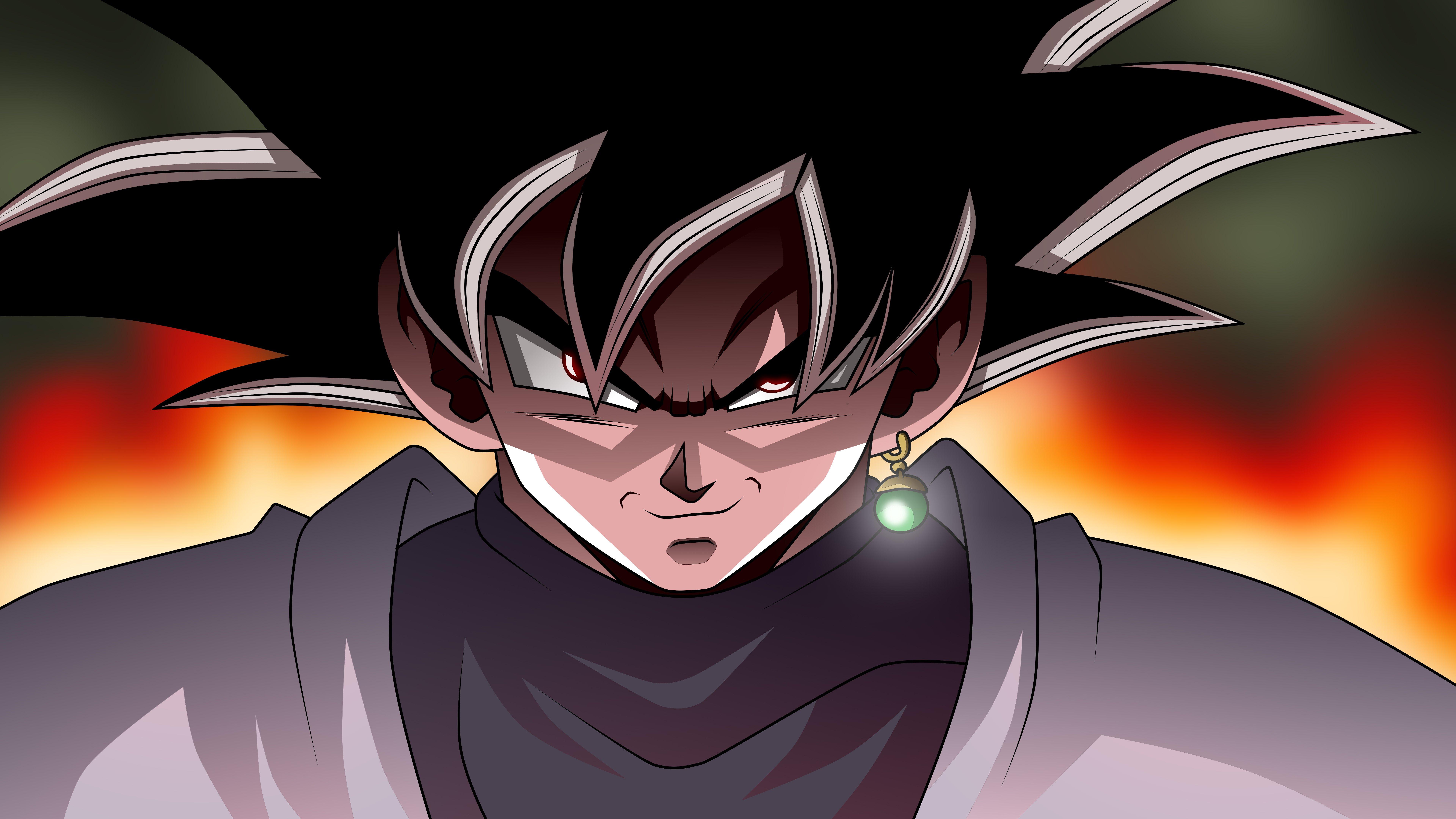 Black Goku Dragon Ball Super Anime Wallpaper 8k Ultra Hd Id 3440