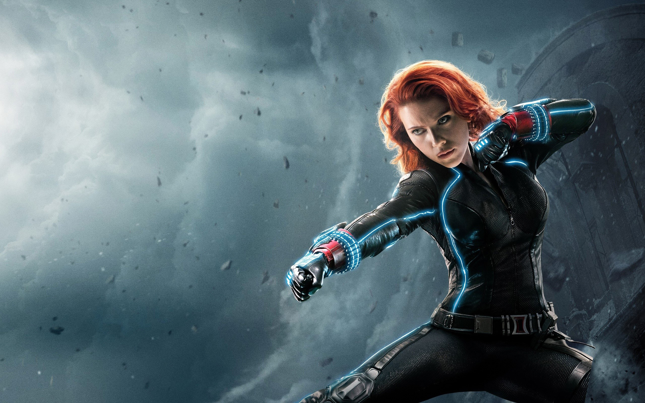 Wallpaper Black Widow in Avengers