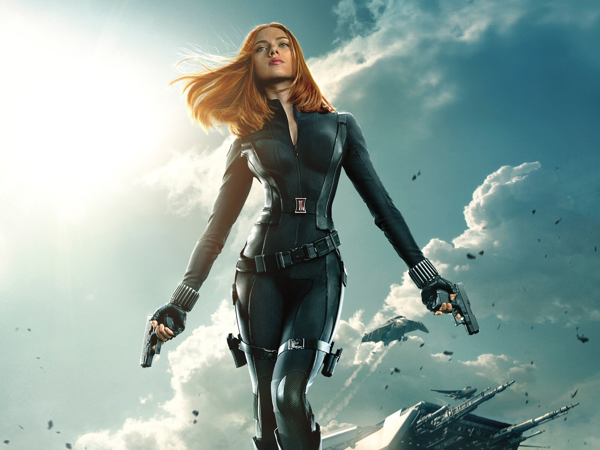 Wallpaper Black Widow in Capitan America 2
