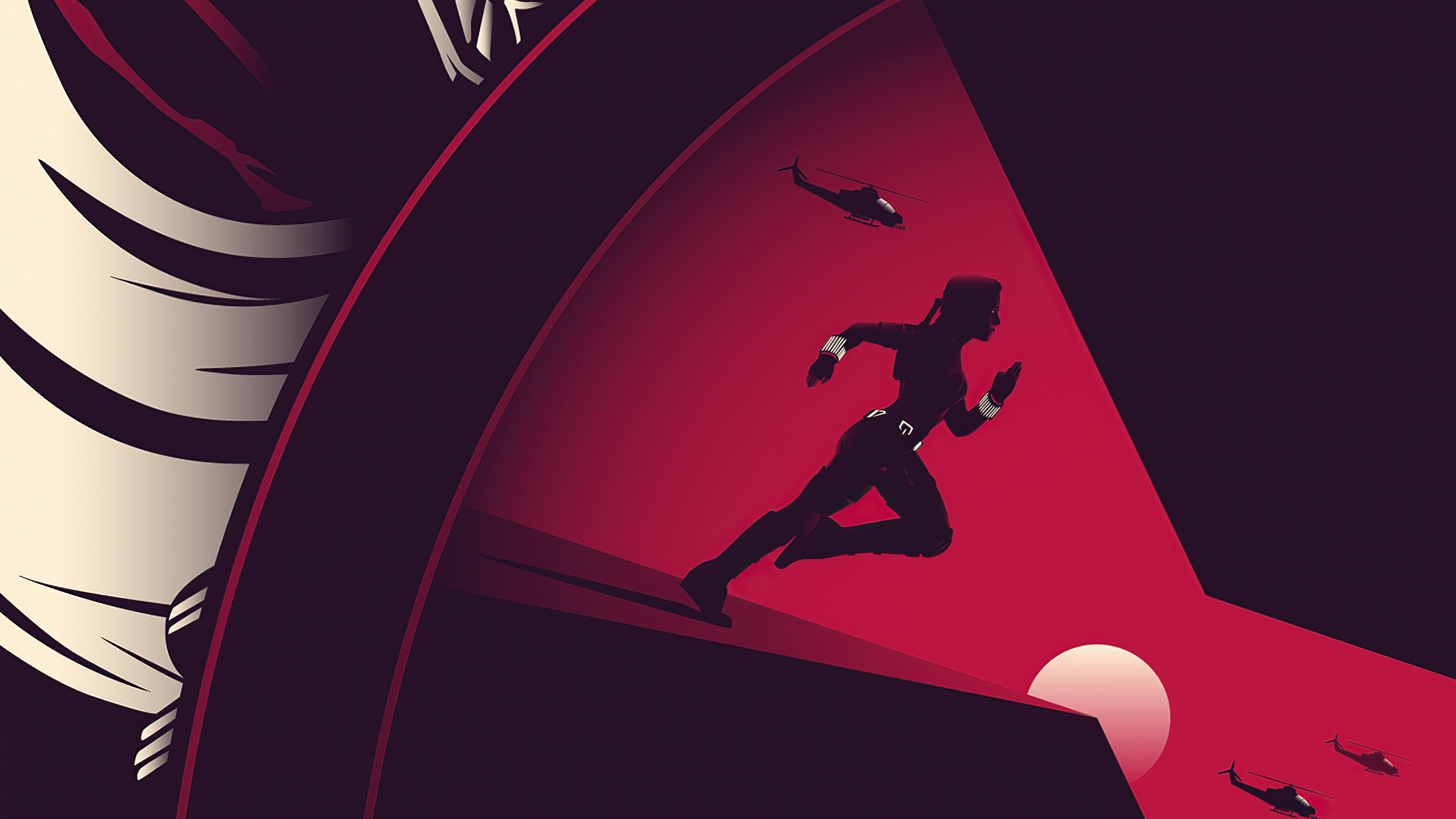 Fondos de pantalla Black Widow Fan art Minimalista