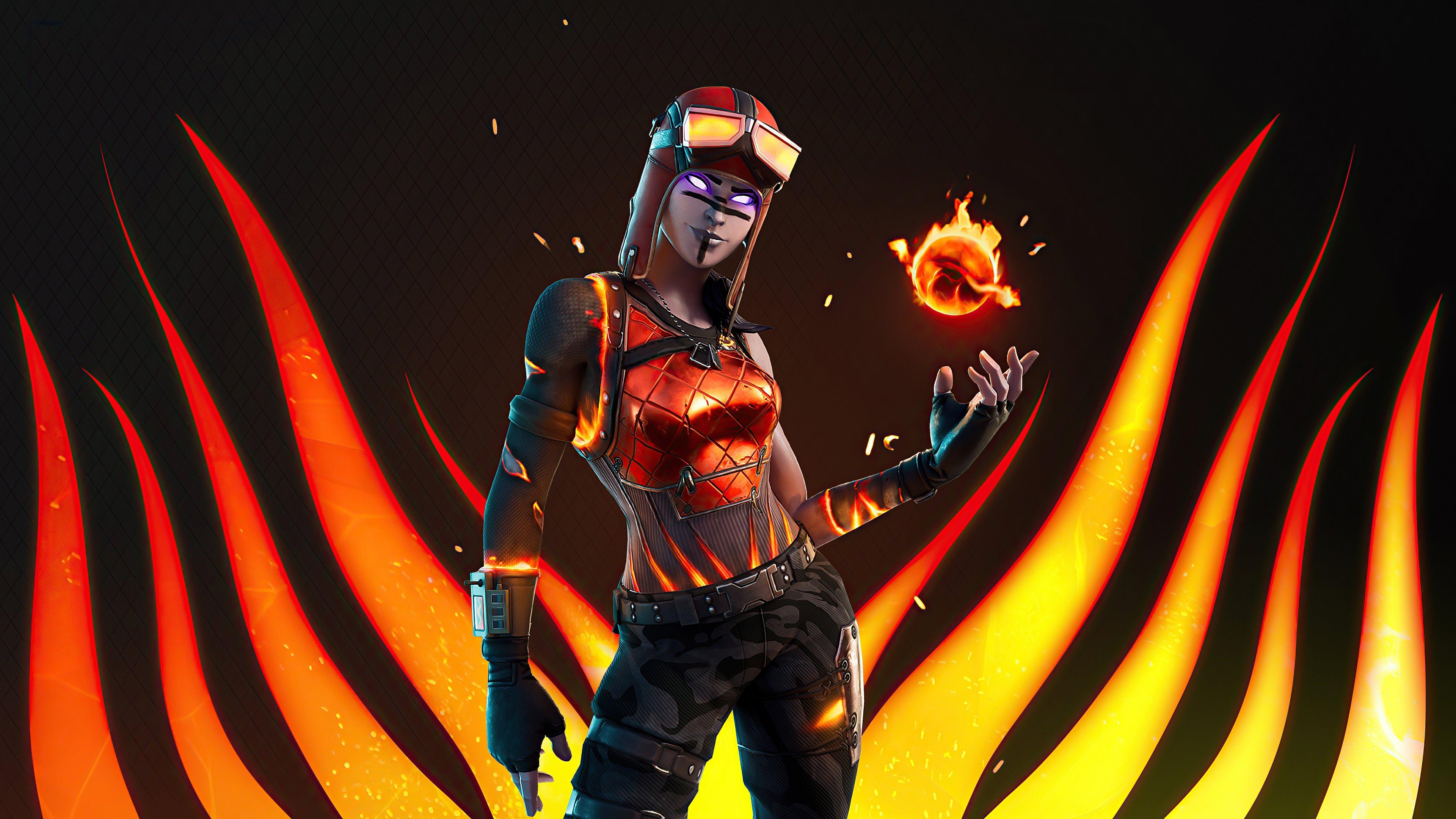 Wallpaper Blaze from Fortnite
