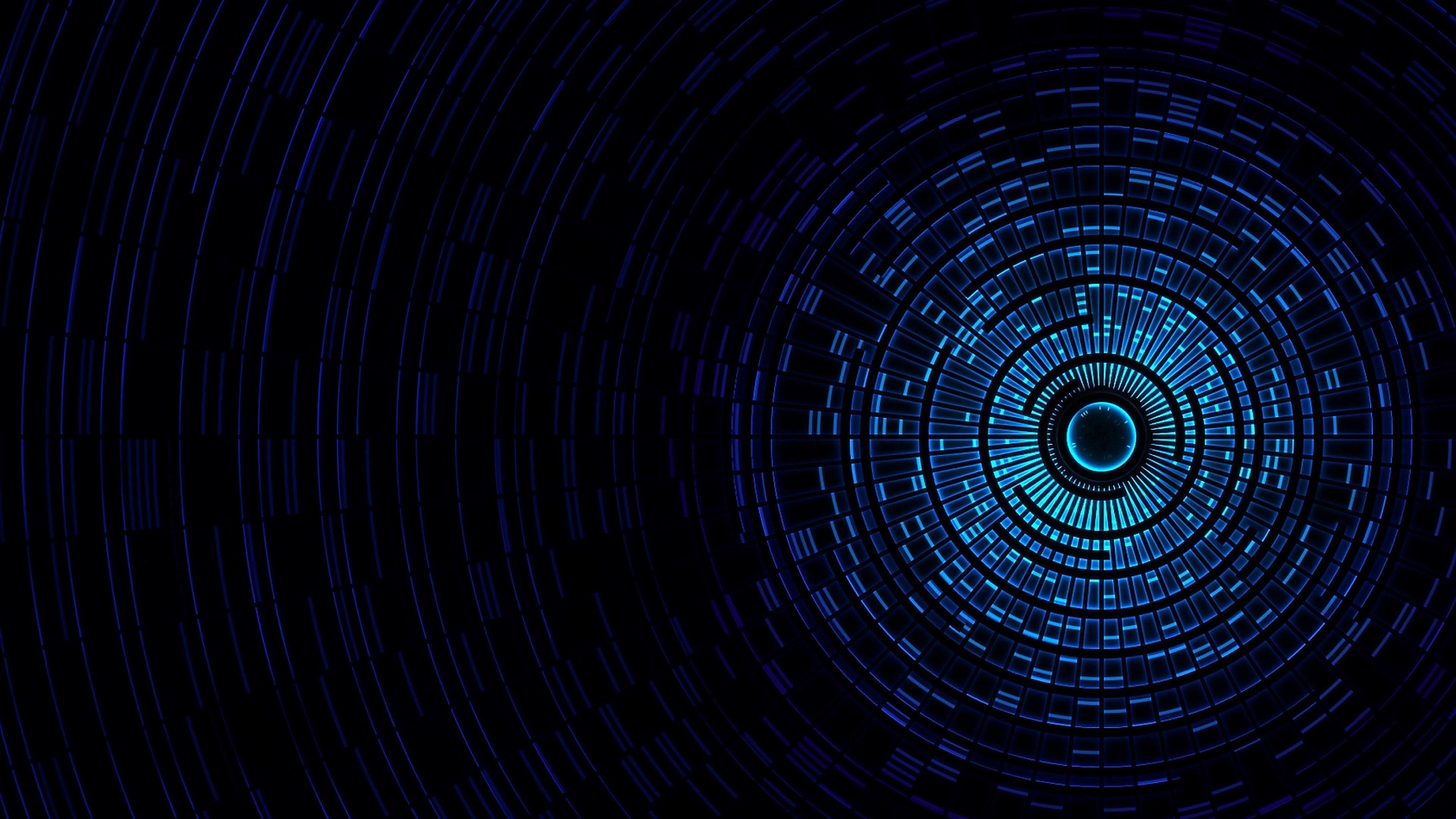 Fondos de pantalla Blue vortex 3D