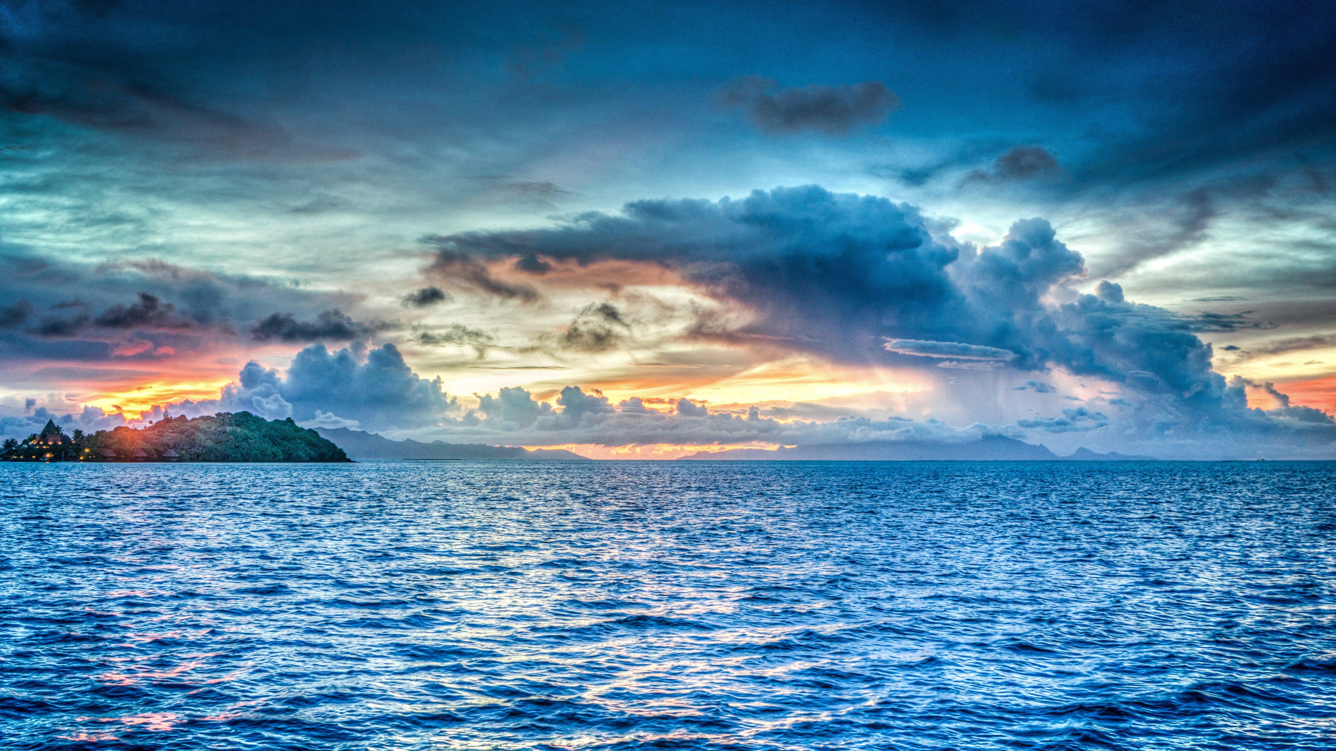 Wallpaper Bora Bora at sunset