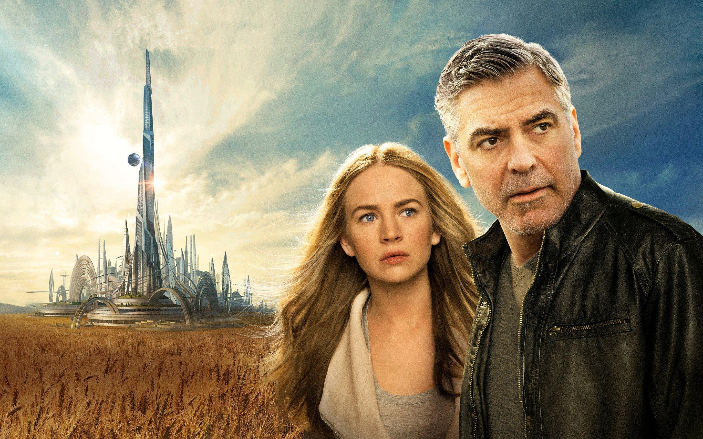 Fondos de pantalla Britt Robertson y George Clooney en Tomorrowland