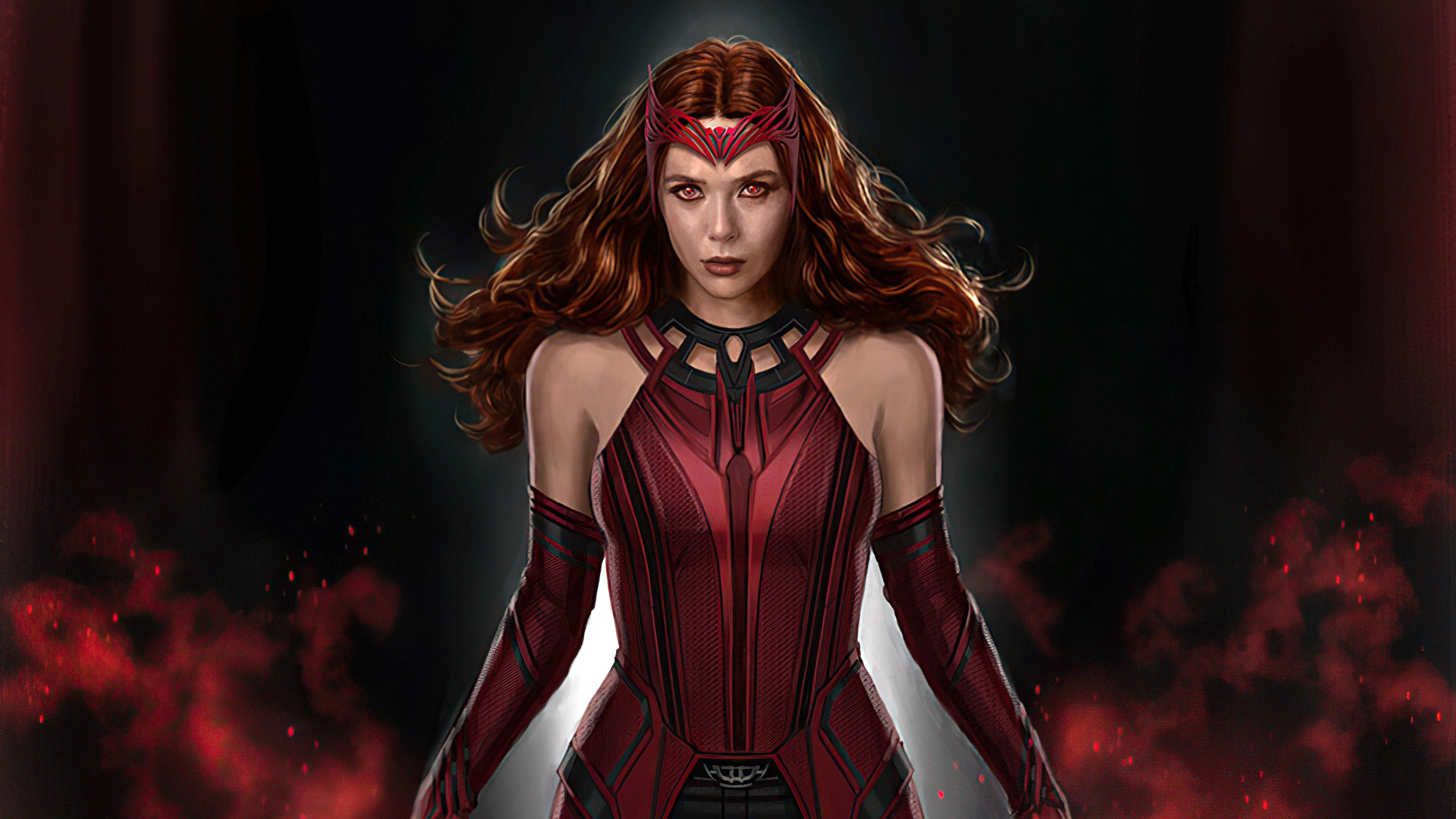 Wallpaper Scarlet Witch Fanart 2021