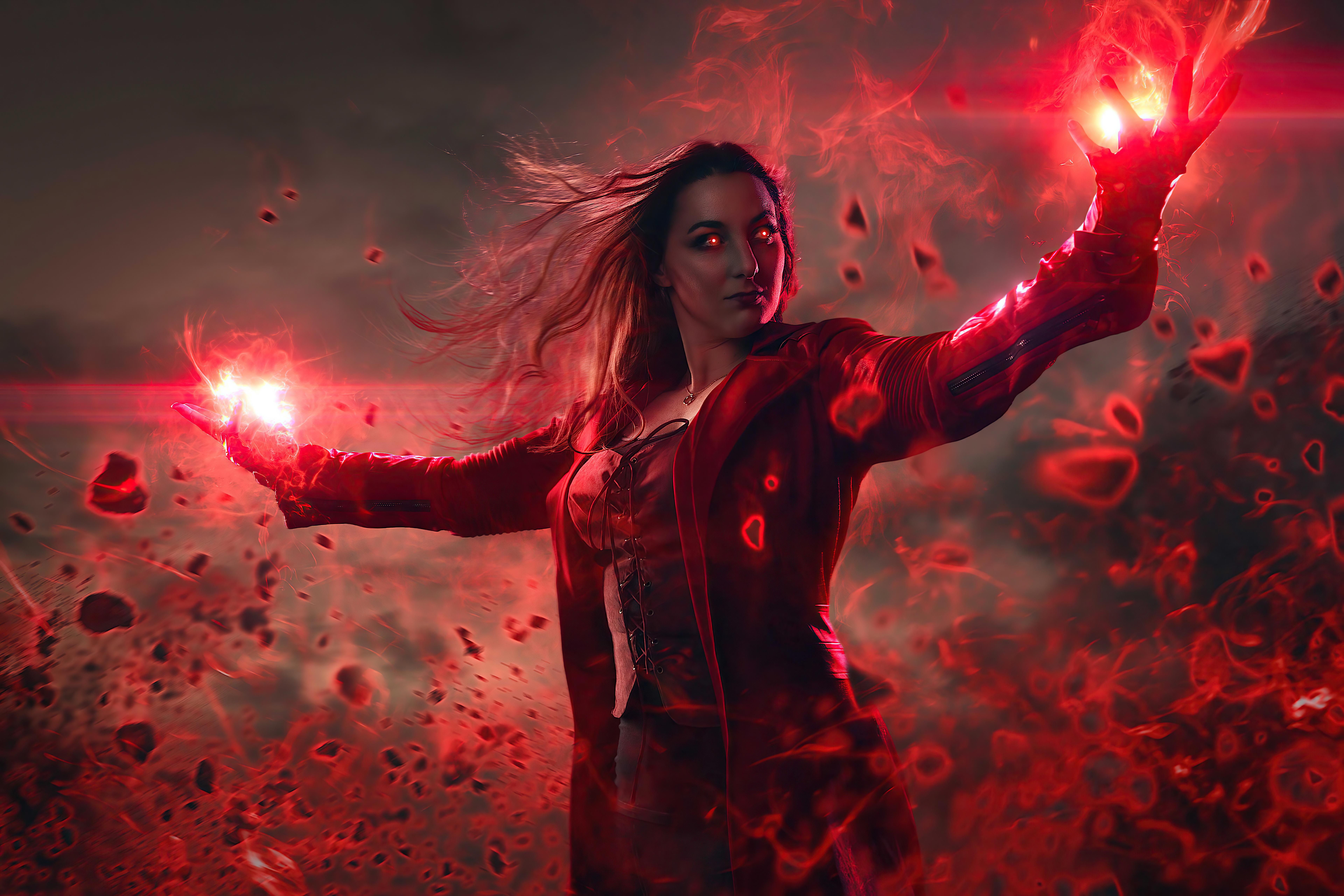 Wallpaper Scarlett Witch Fanart