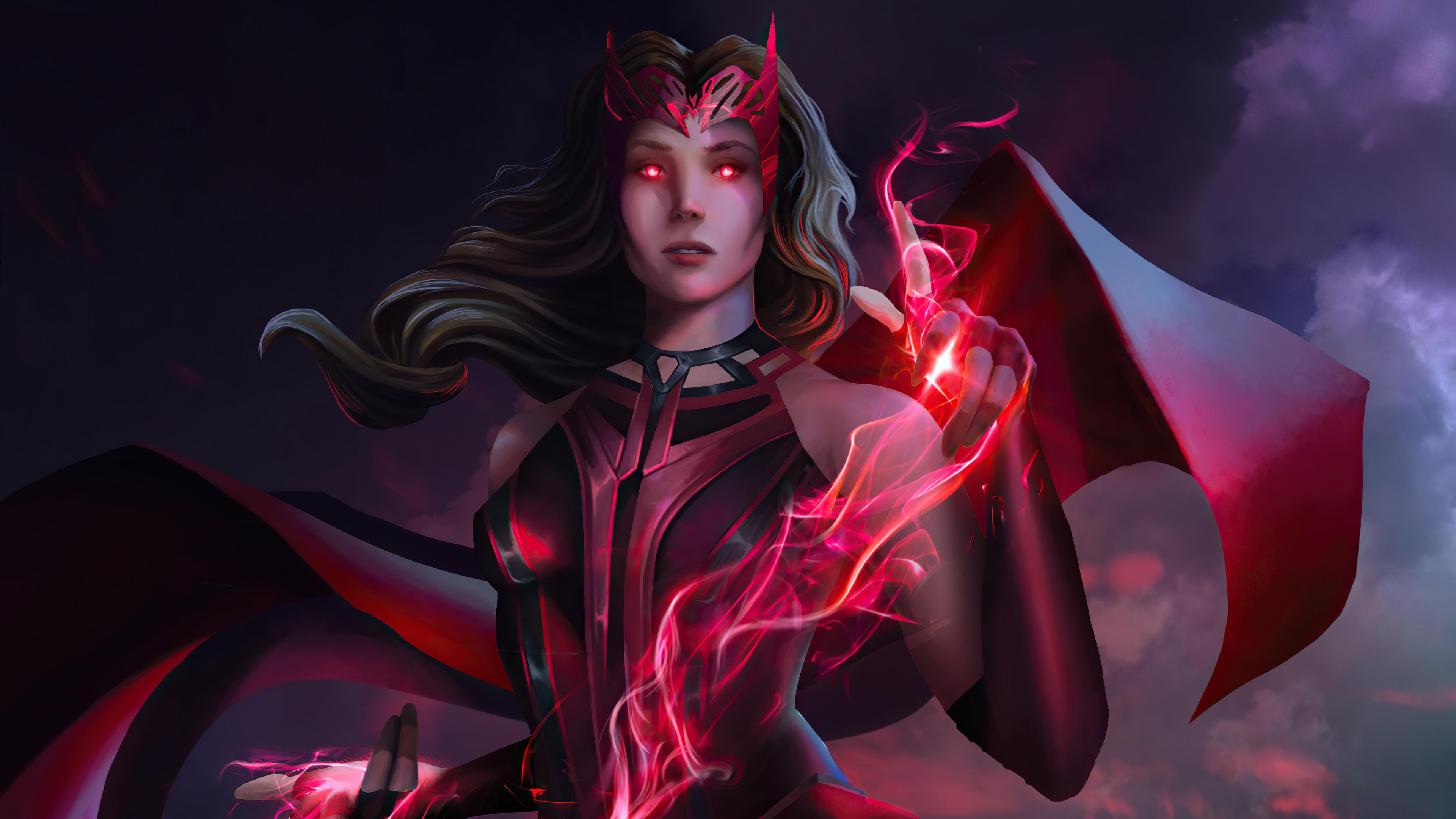 Wallpaper Scarlet Witch Wanda Fanart