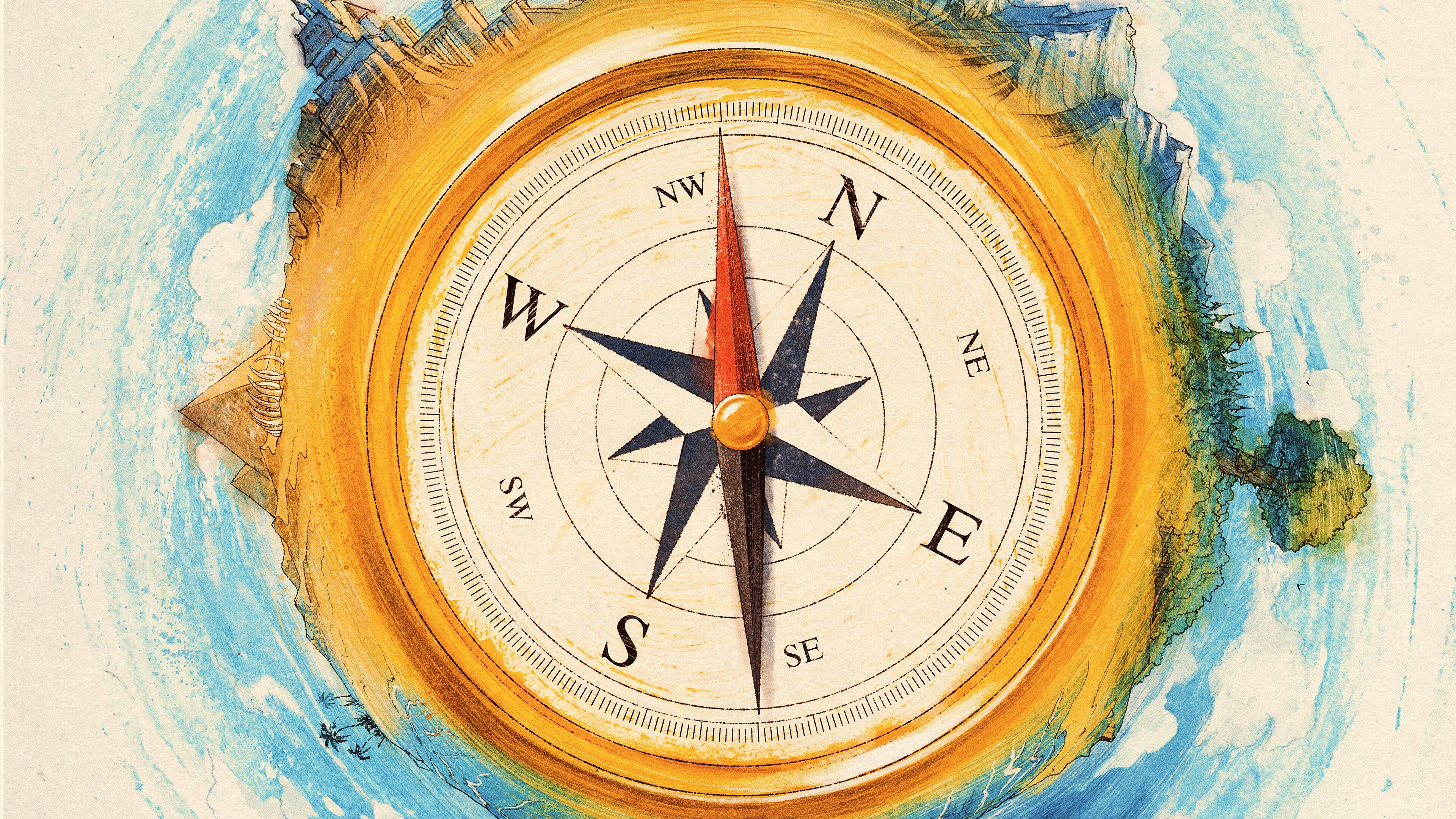 Wallpaper Compass directions Digital Art
