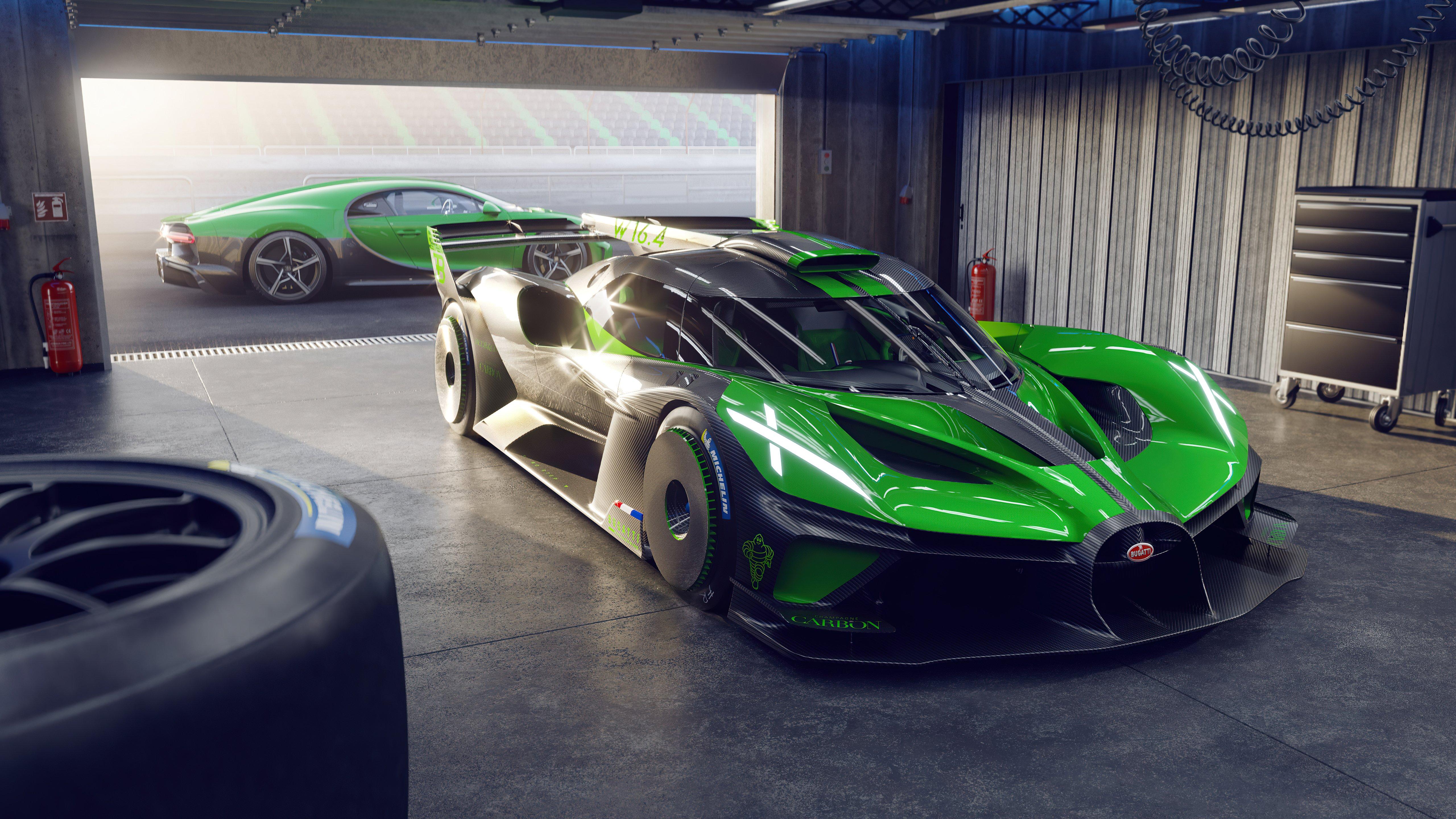 Fondos de pantalla Bugatti Bolide y Bugatti Chiron