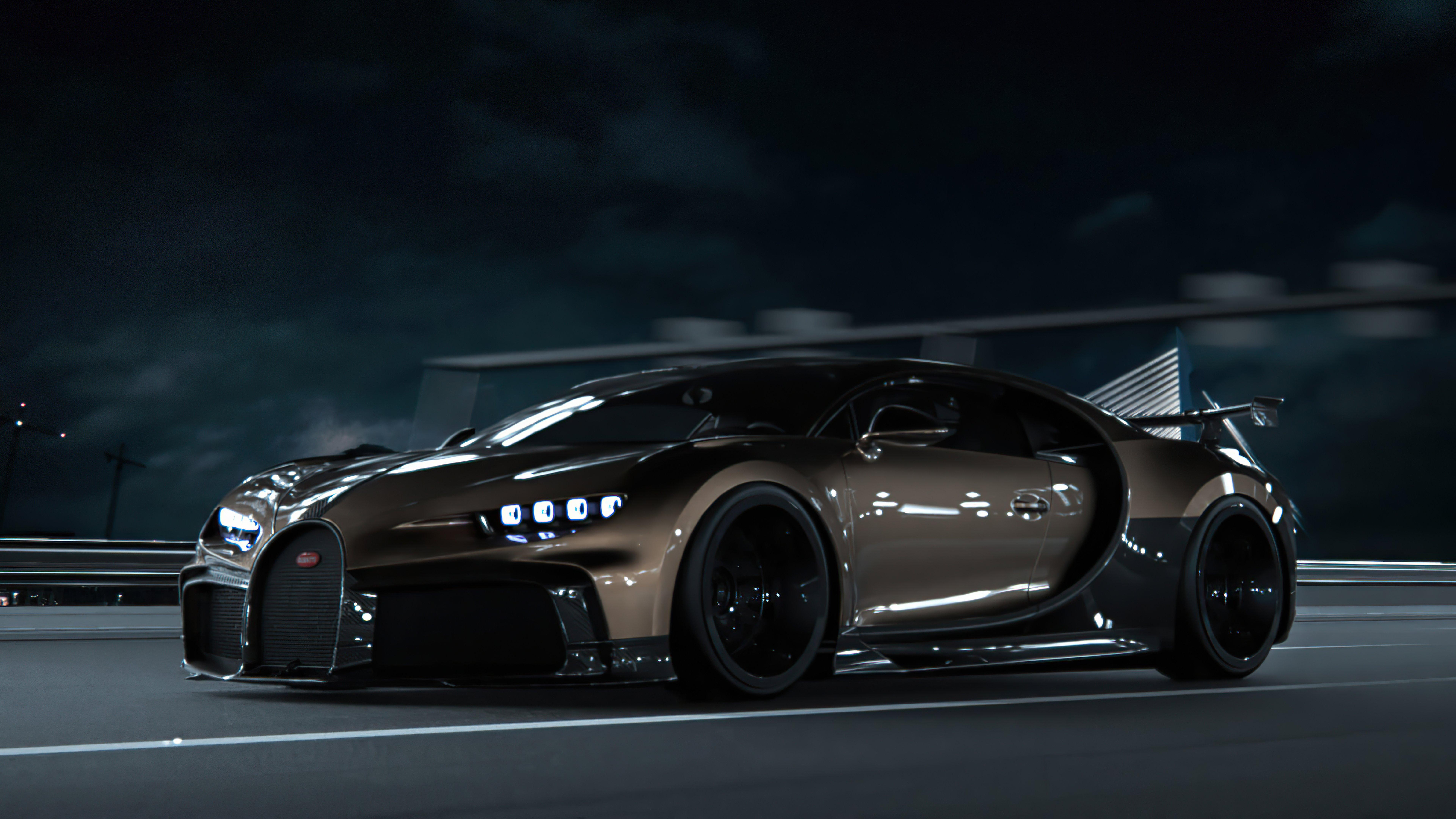 Fondos de pantalla Bugatti Chiron CGI