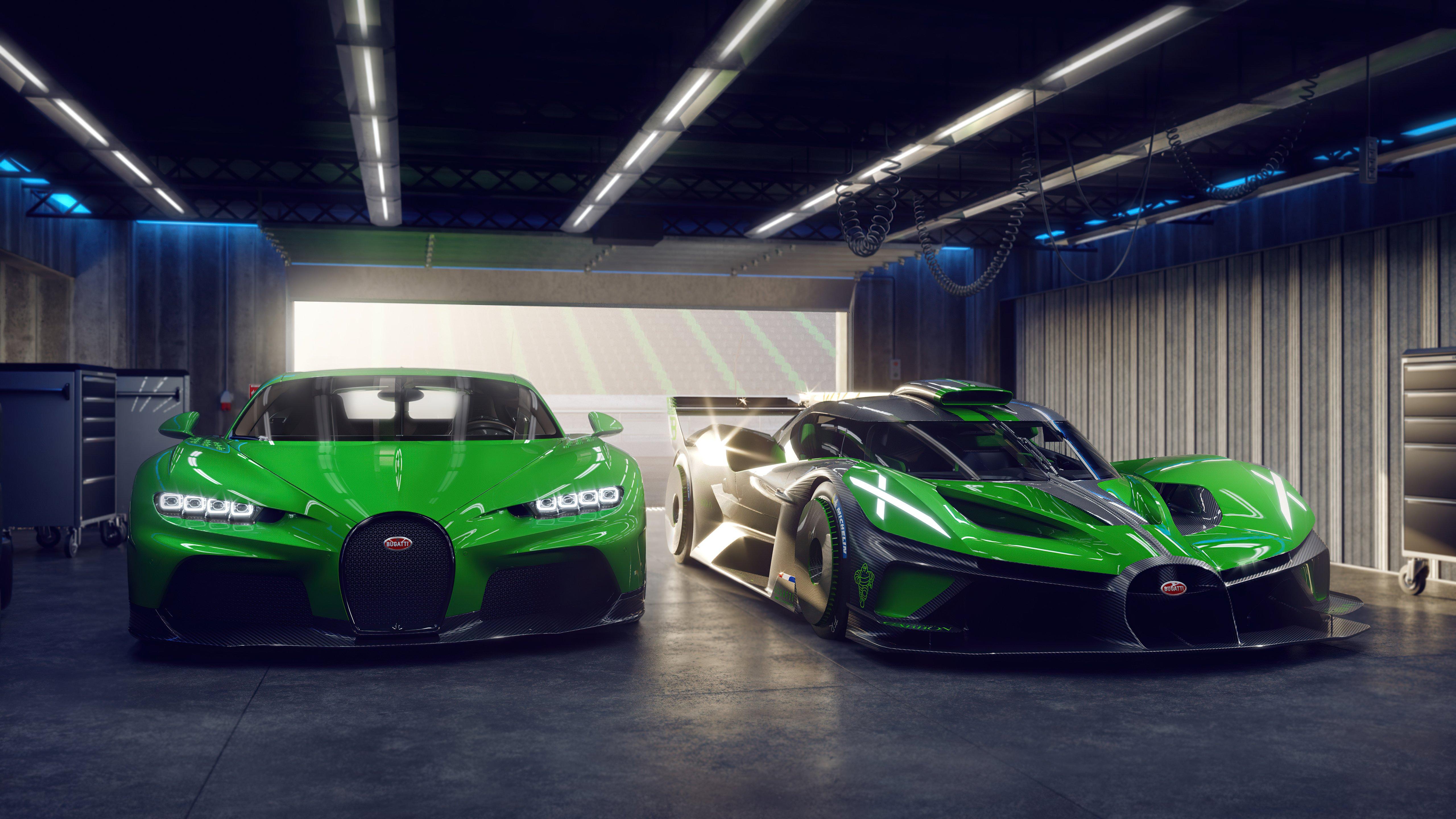 Fondos de pantalla Bugatti Chiron y Bugatti Bolide